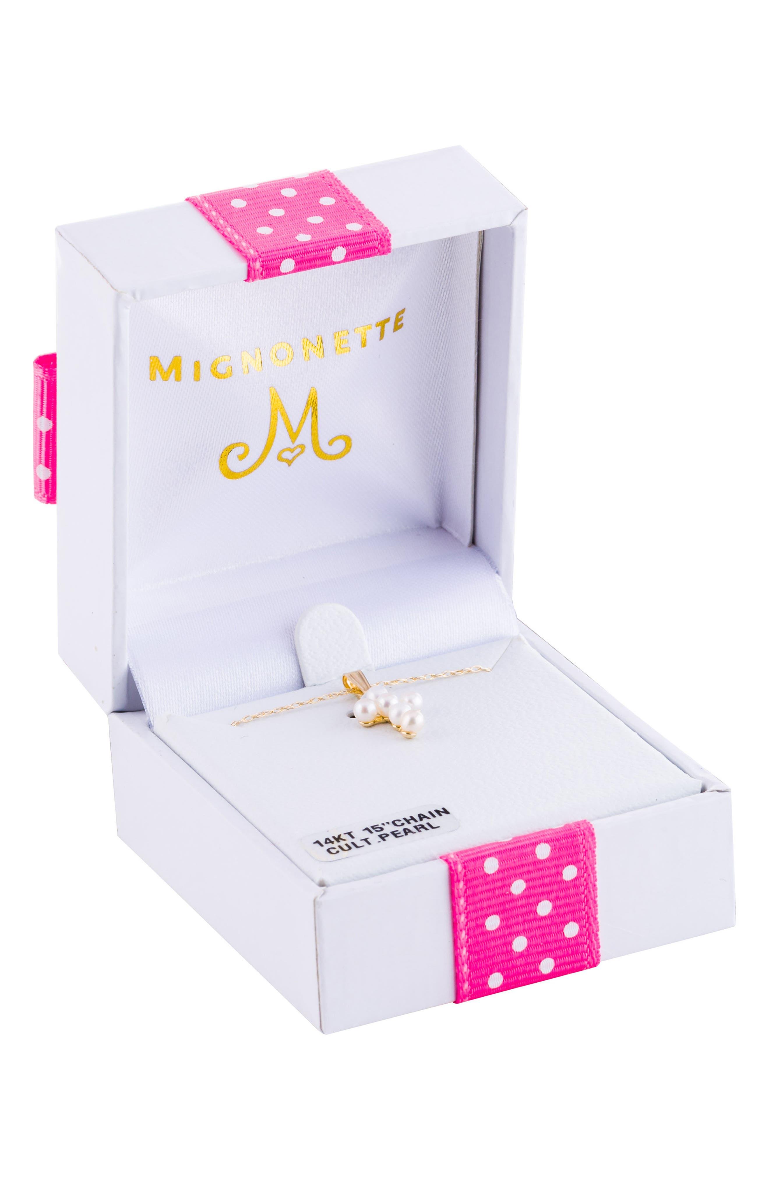 MIGNONETTE Cultured Pearl Cross Pendant Necklace