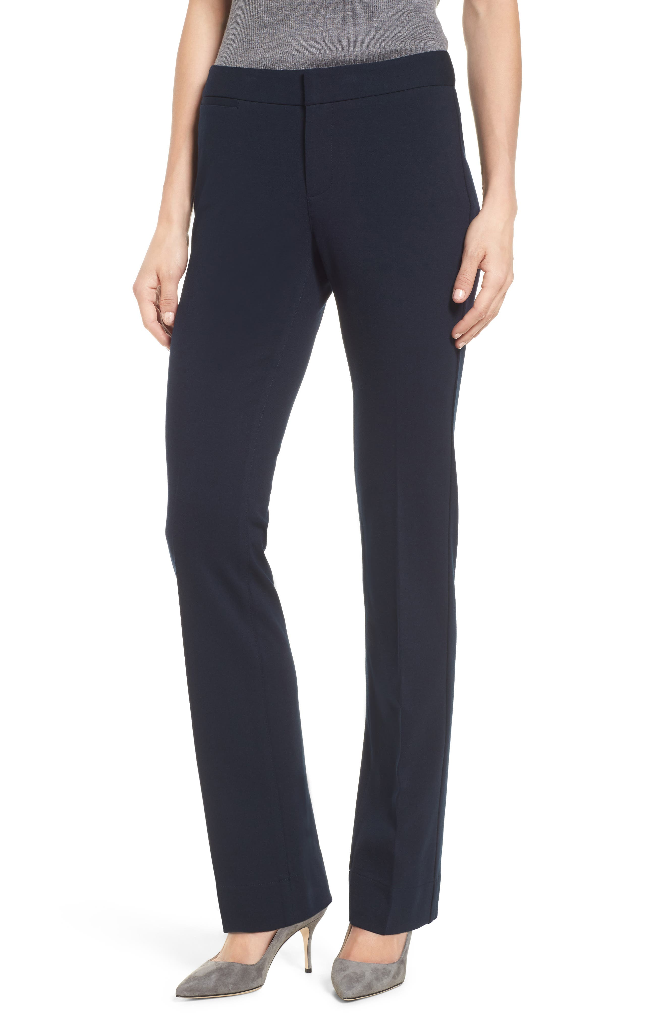 Stretch Knit Trousers,                         Main,                         color, Nightfall