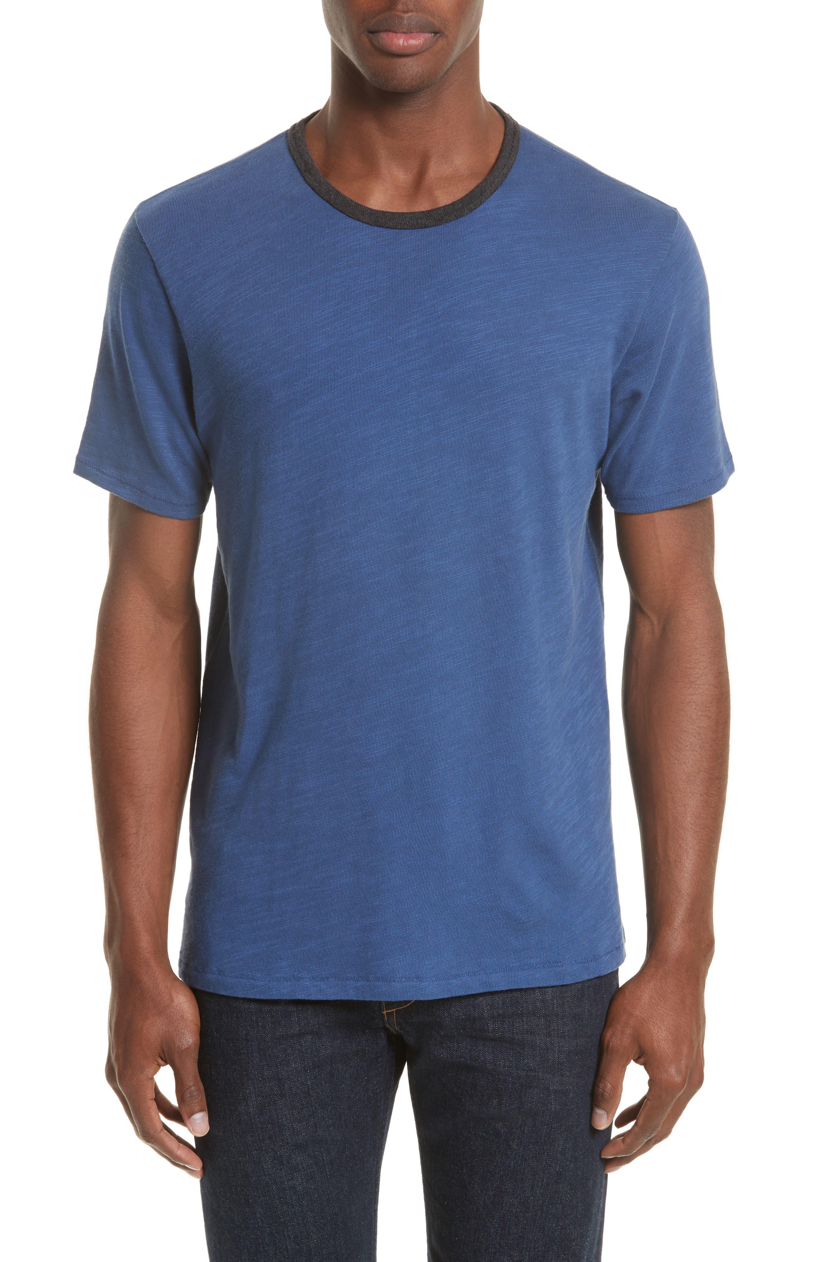 Slub Cotton Jersey T-Shirt,                         Main,                         color, Indigo