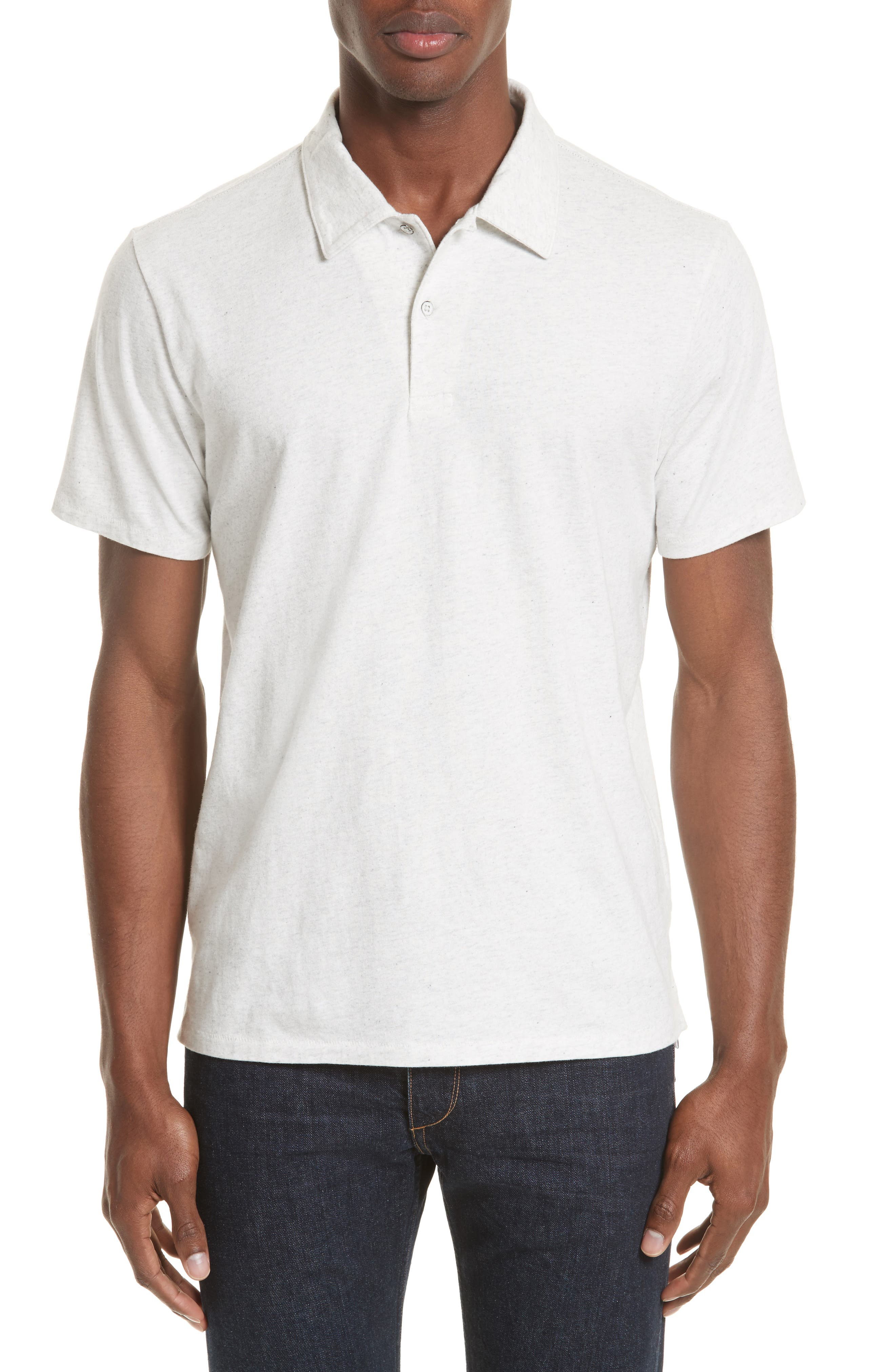 rag & bone Heathered Jersey Polo