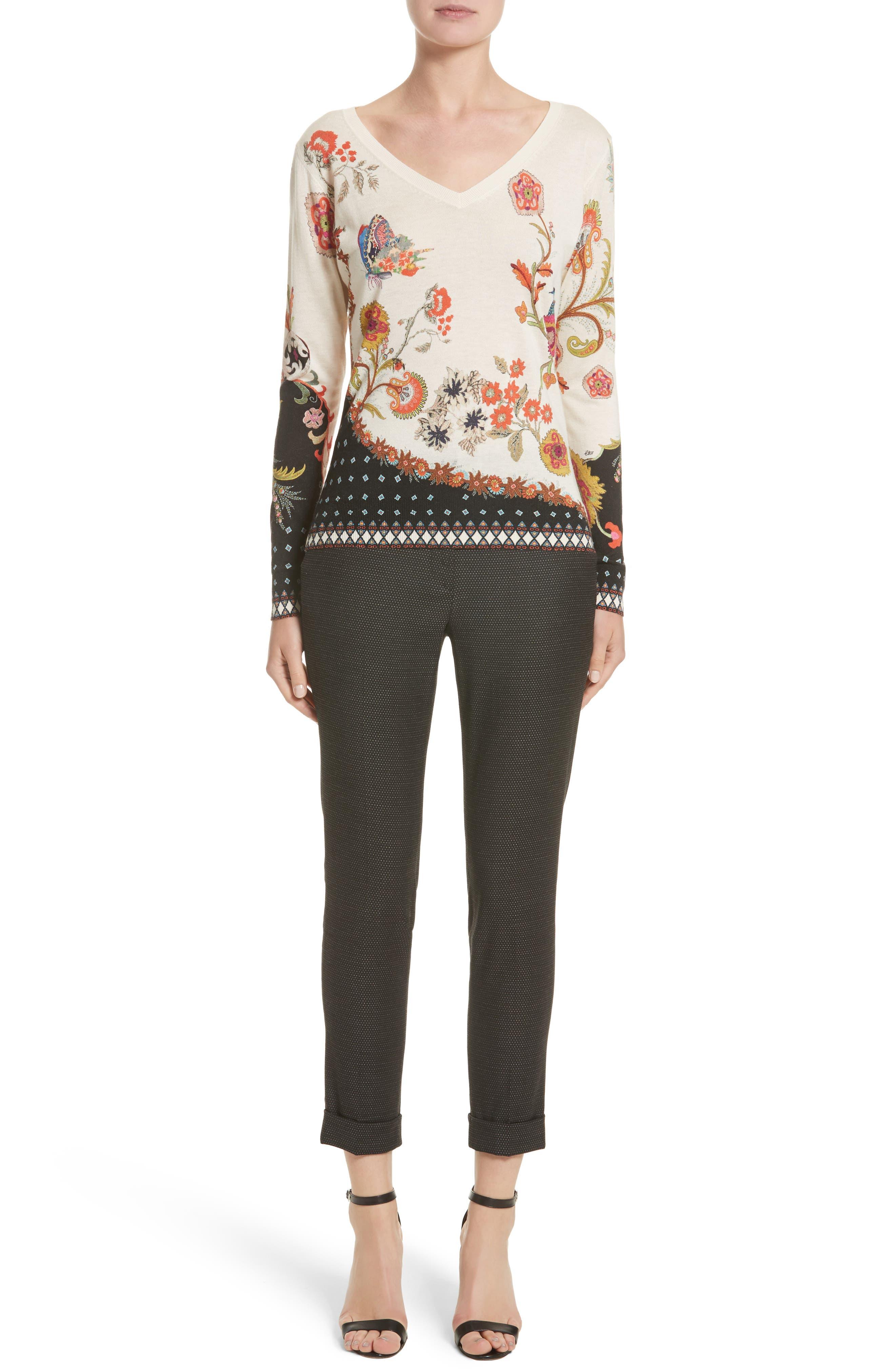 Alternate Image 7  - Etro Dot Wool Blend Crop Pants