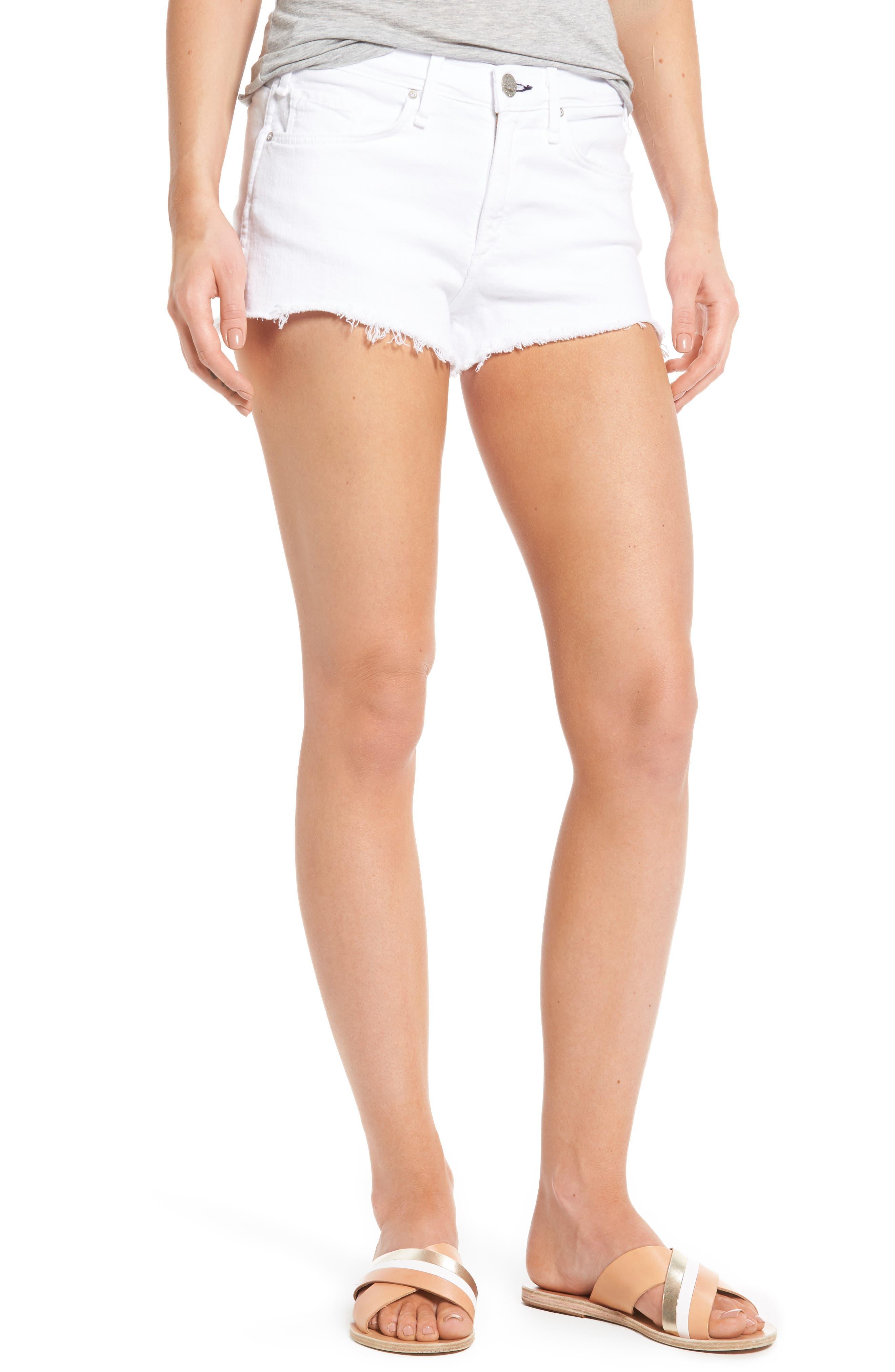 MCGUIRE Pom Pom Cutoff Denim Shorts
