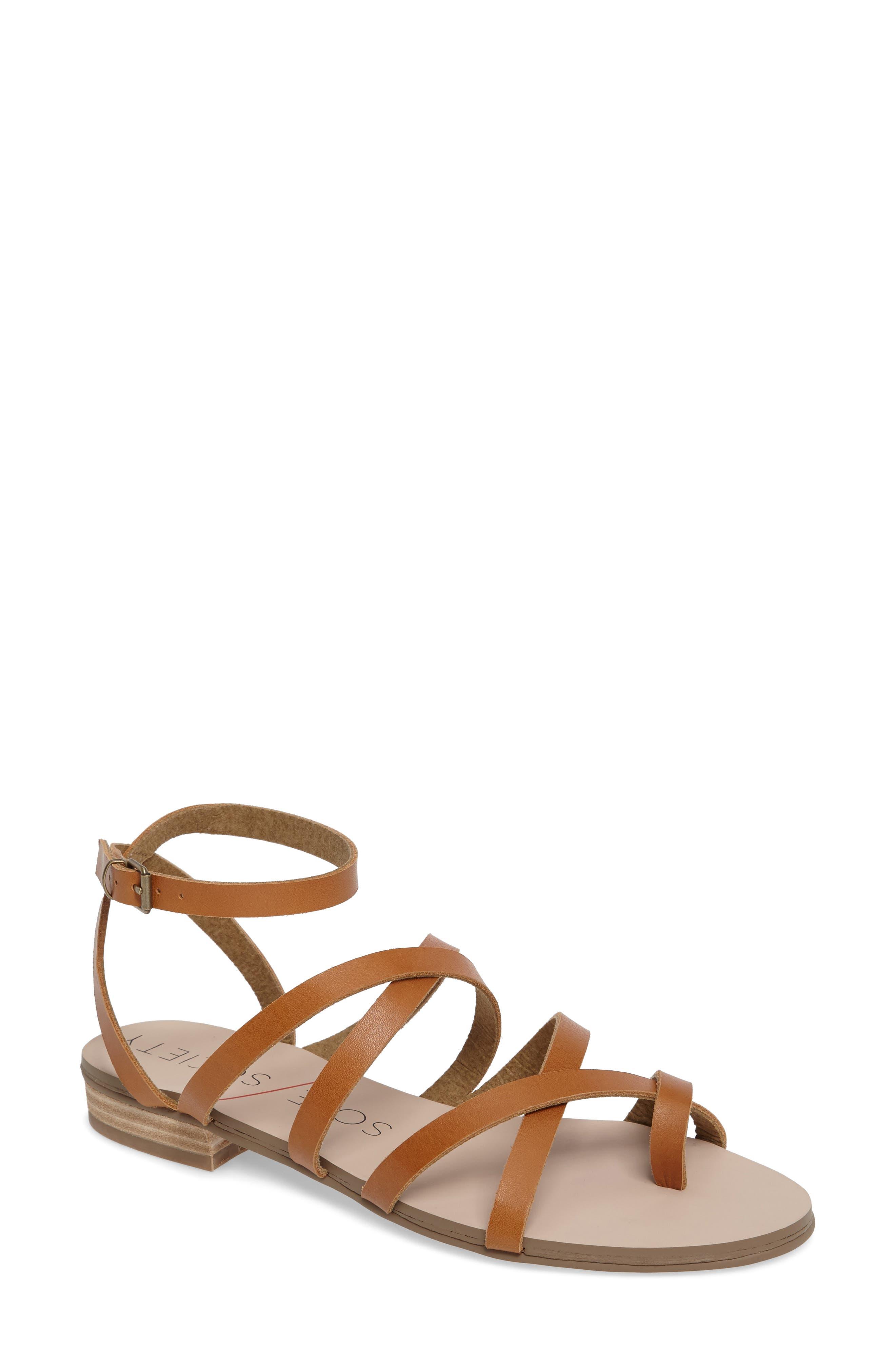 Sole Society Koko Flat Sandal (Women)
