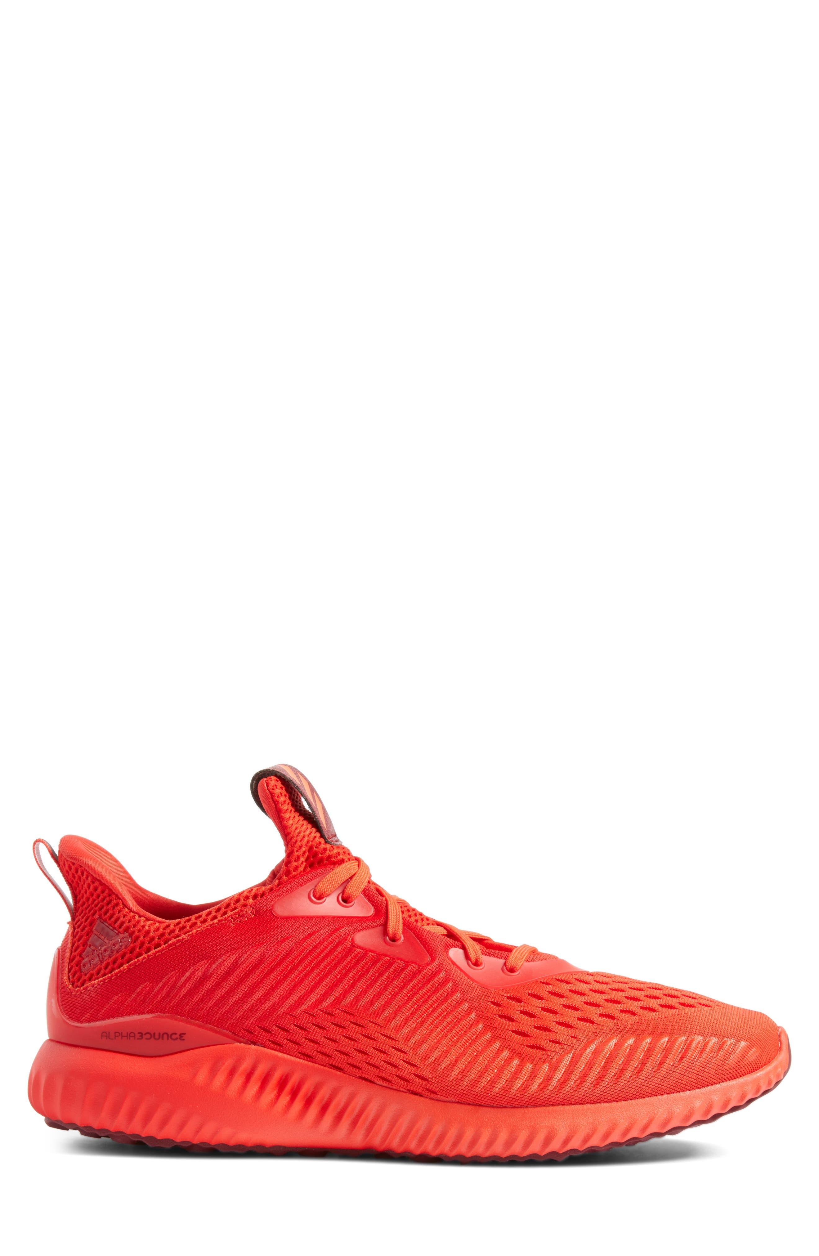 AlphaBounce Running Shoe,                             Alternate thumbnail 3, color,                             Blaze Orange/Red/Burgundy