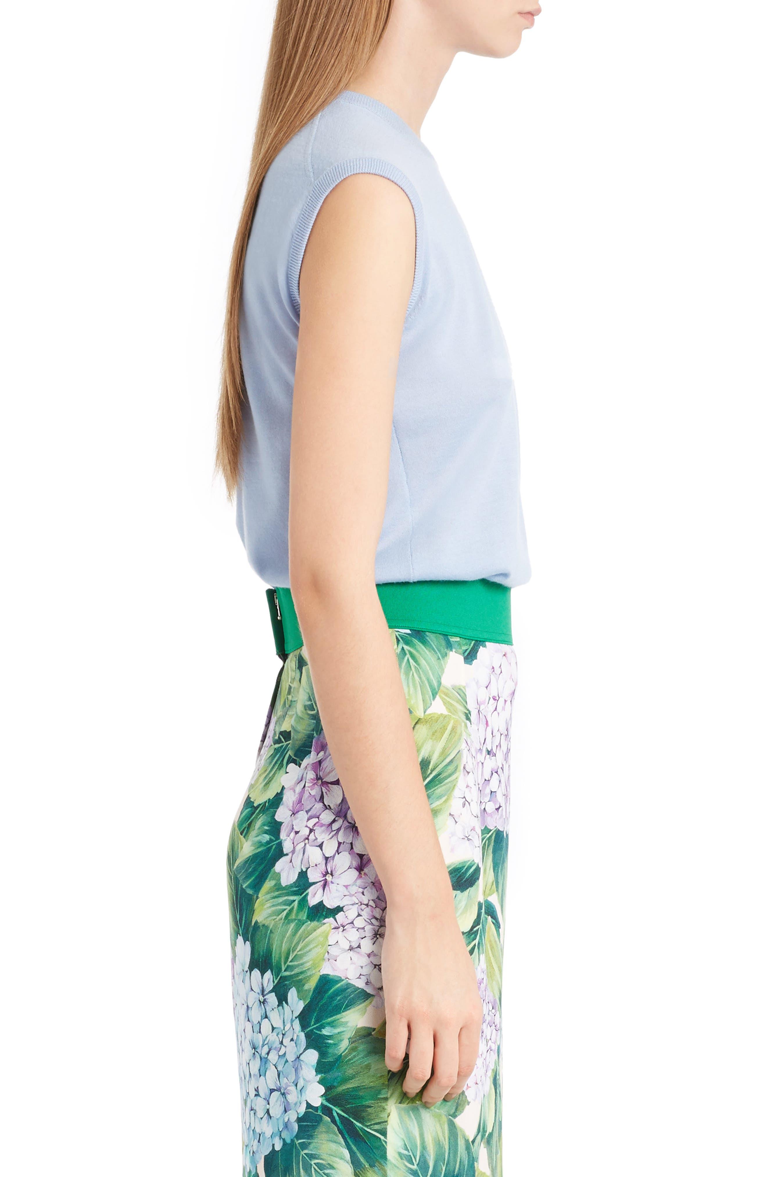 Alternate Image 4  - Dolce&Gabbana Cashmere & Silk Shell