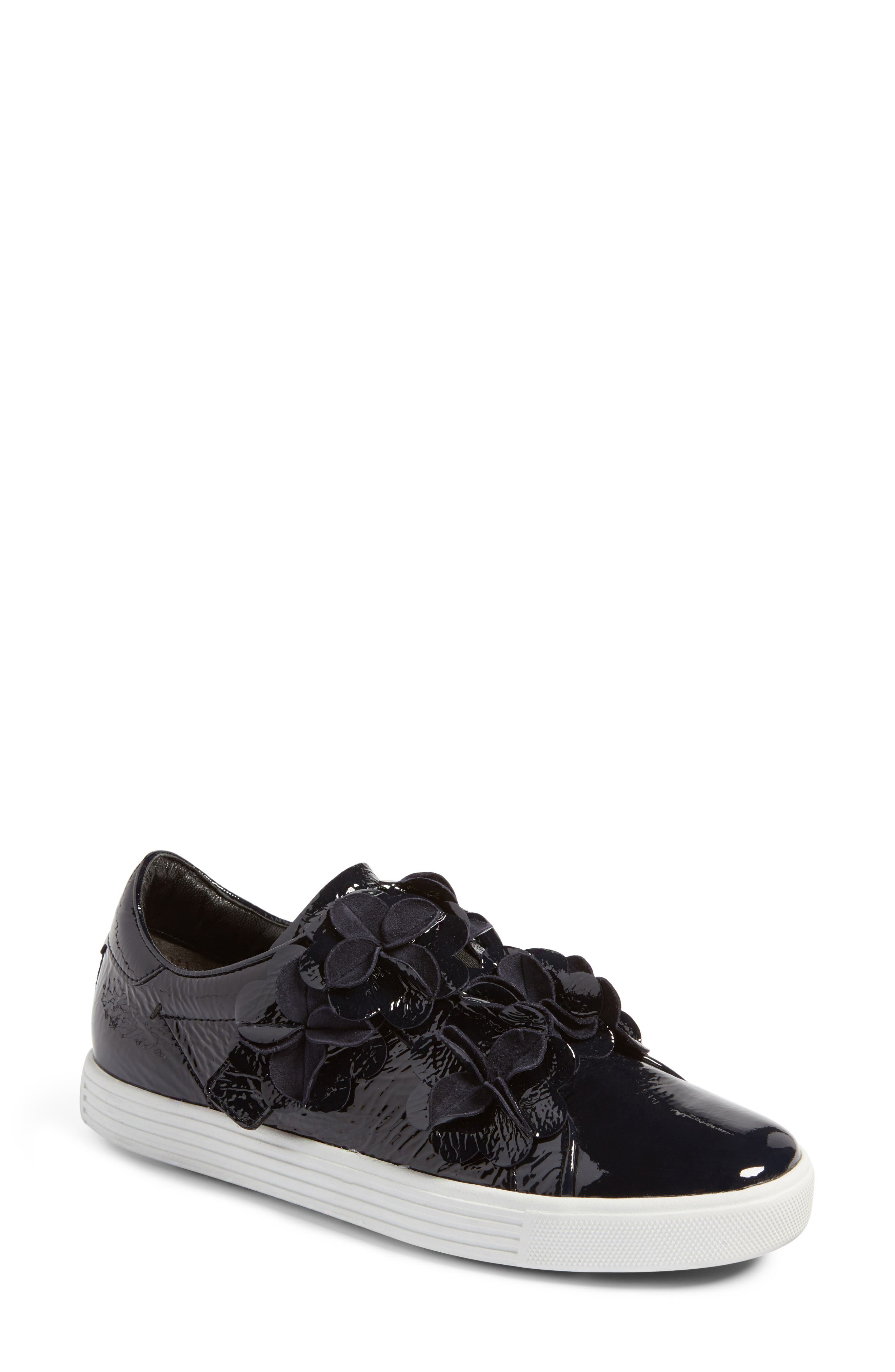 Kennel & Schmenger Town Floral Embellished Sneaker,                             Main thumbnail 1, color,                             Dark Navy