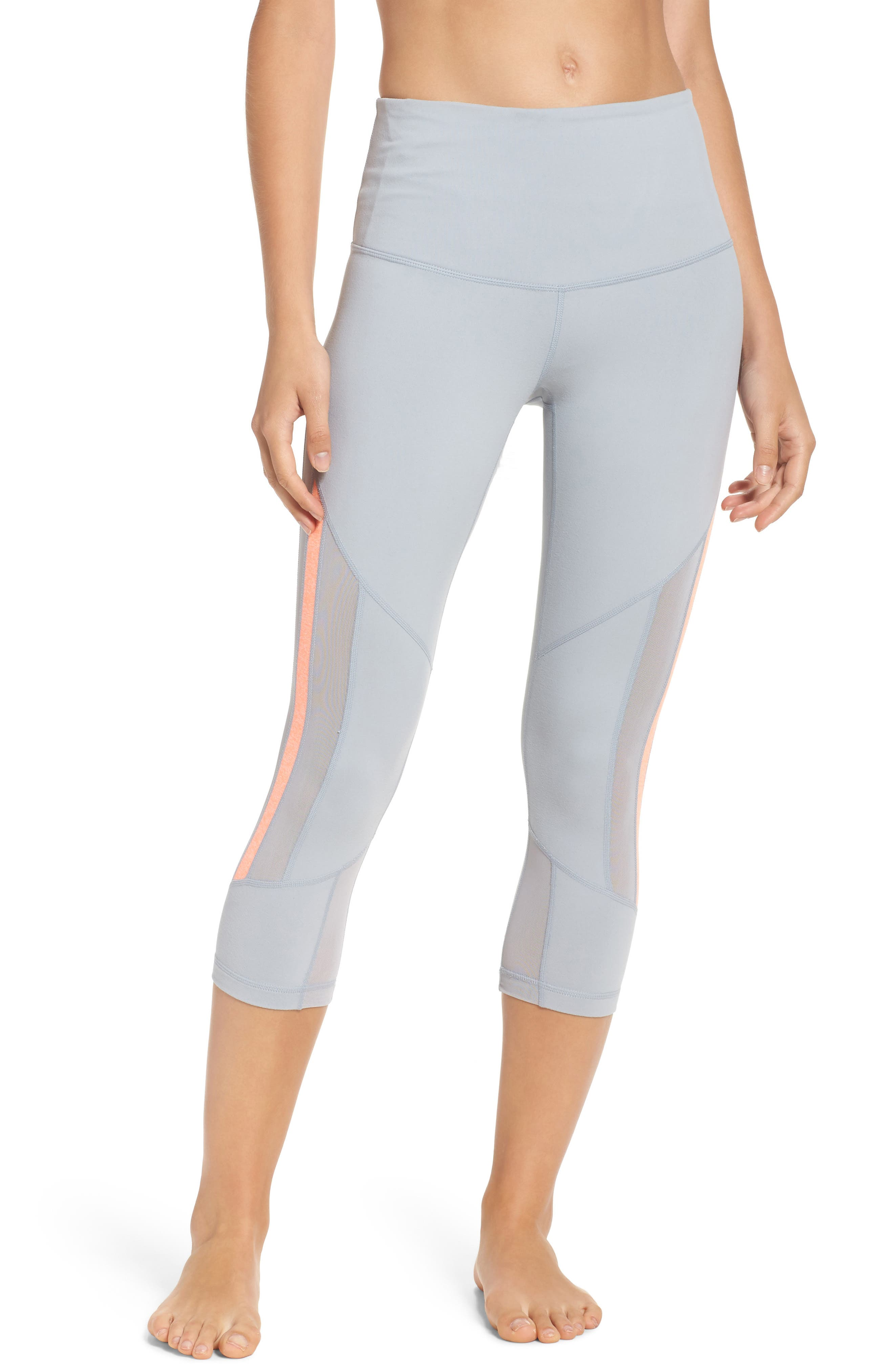 Zella Sheer to There High Waist Crop Leggings
