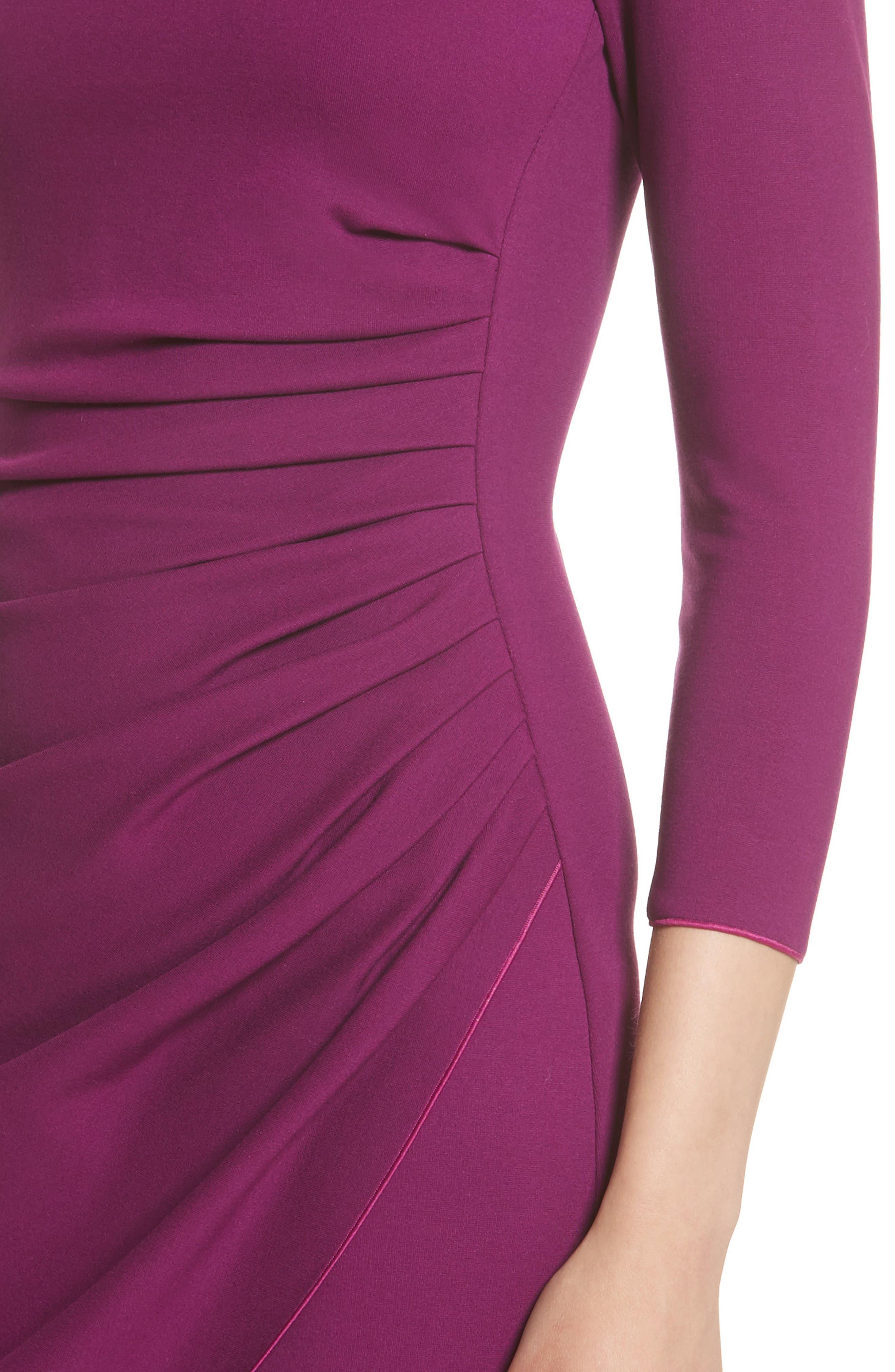 Alternate Image 6  - Armani Collezioni Milano Jersey Petal Hem Dress (Nordstrom Exclusive)