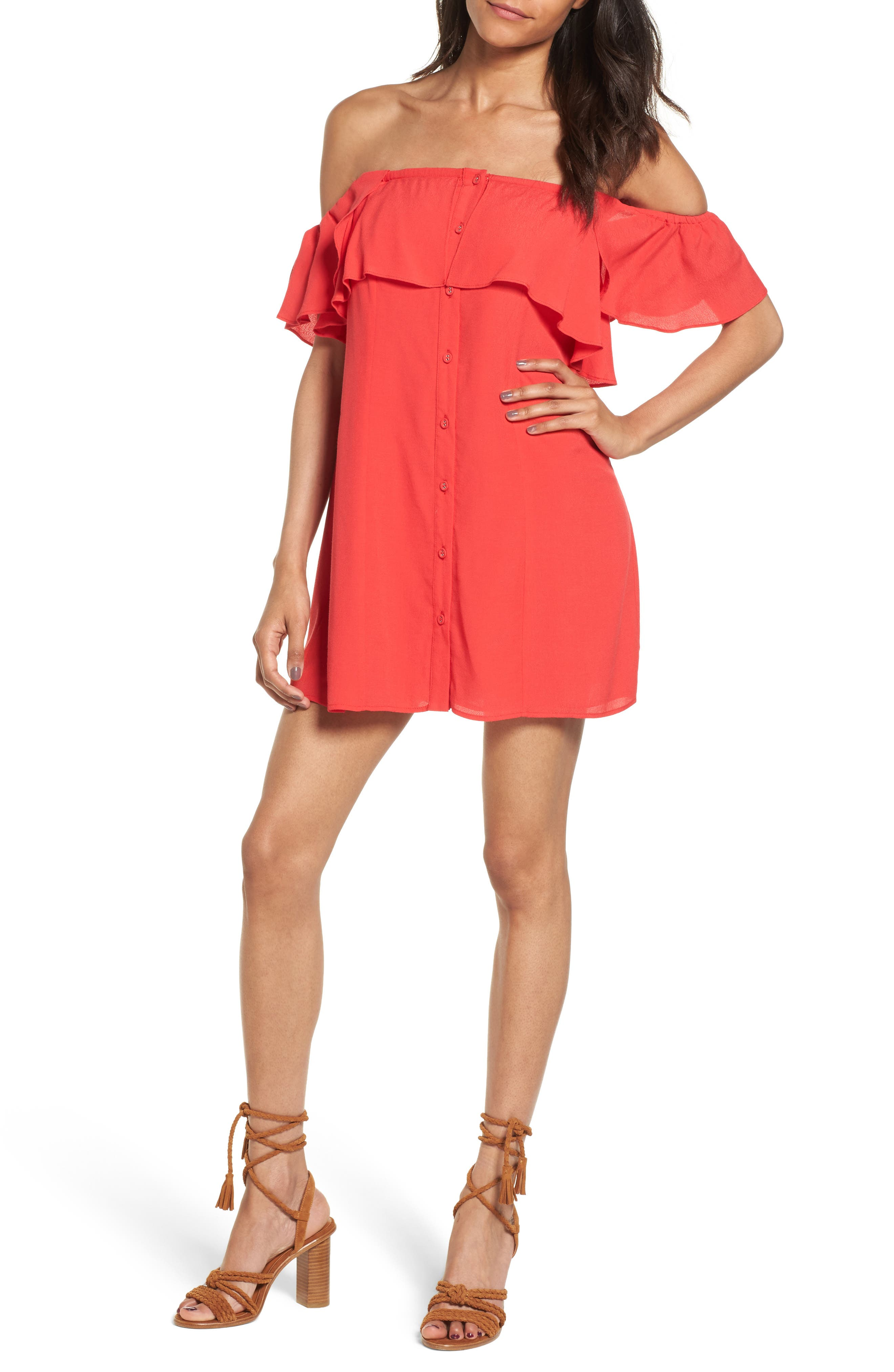 PRIVACY PLEASE Norval Off-the-Shoulder Minidress