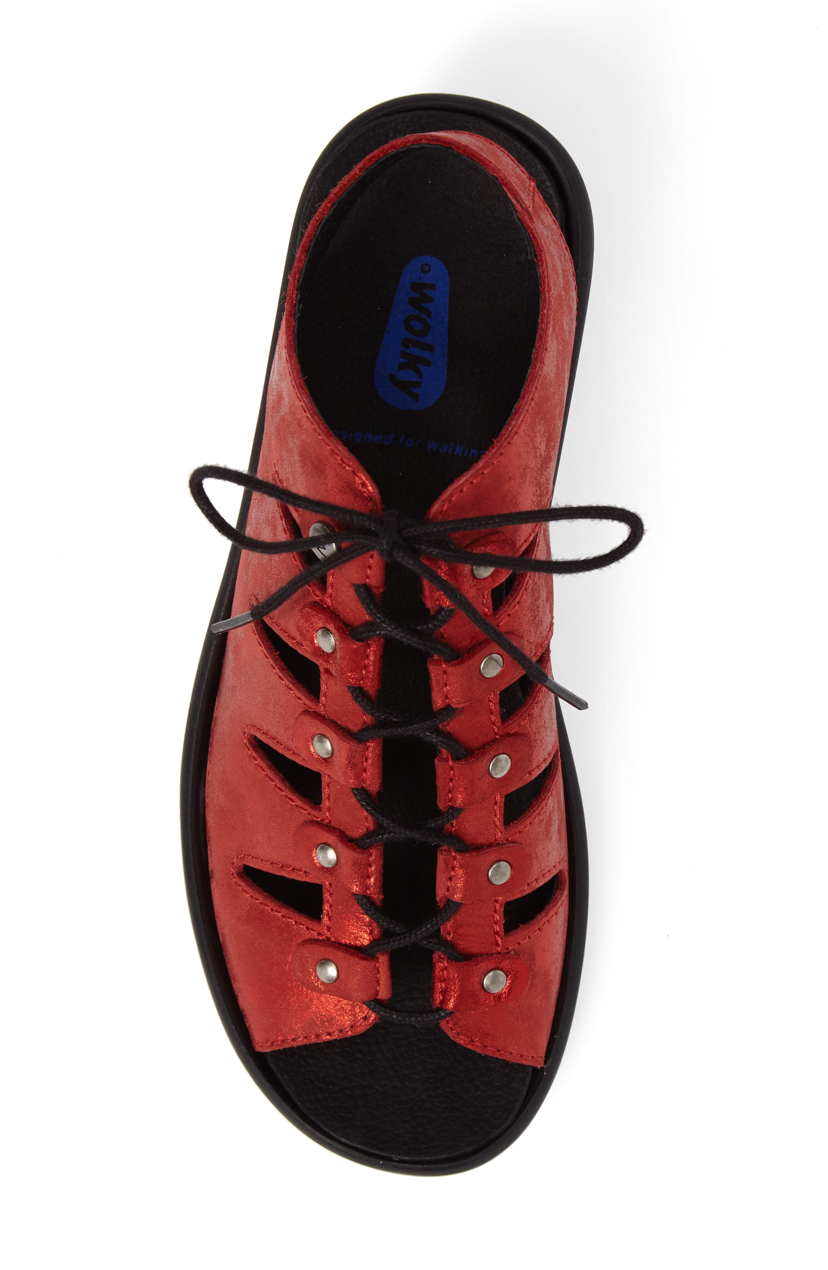 Arena Sandal,                             Alternate thumbnail 5, color,                             Red Nubuck Leather