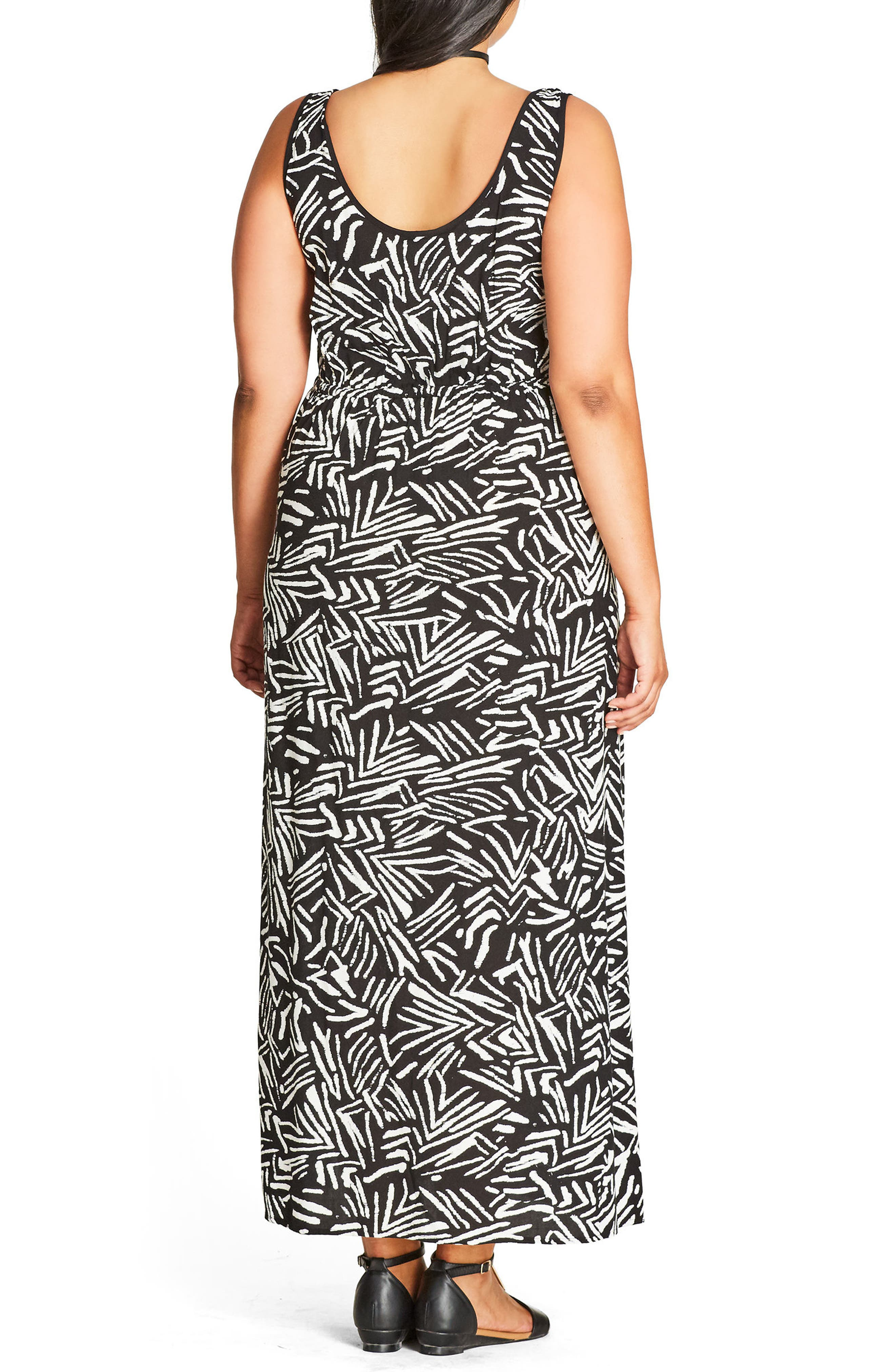 Alternate Image 2  - City Chic Summer Party Maxi Dress (Plus Size)