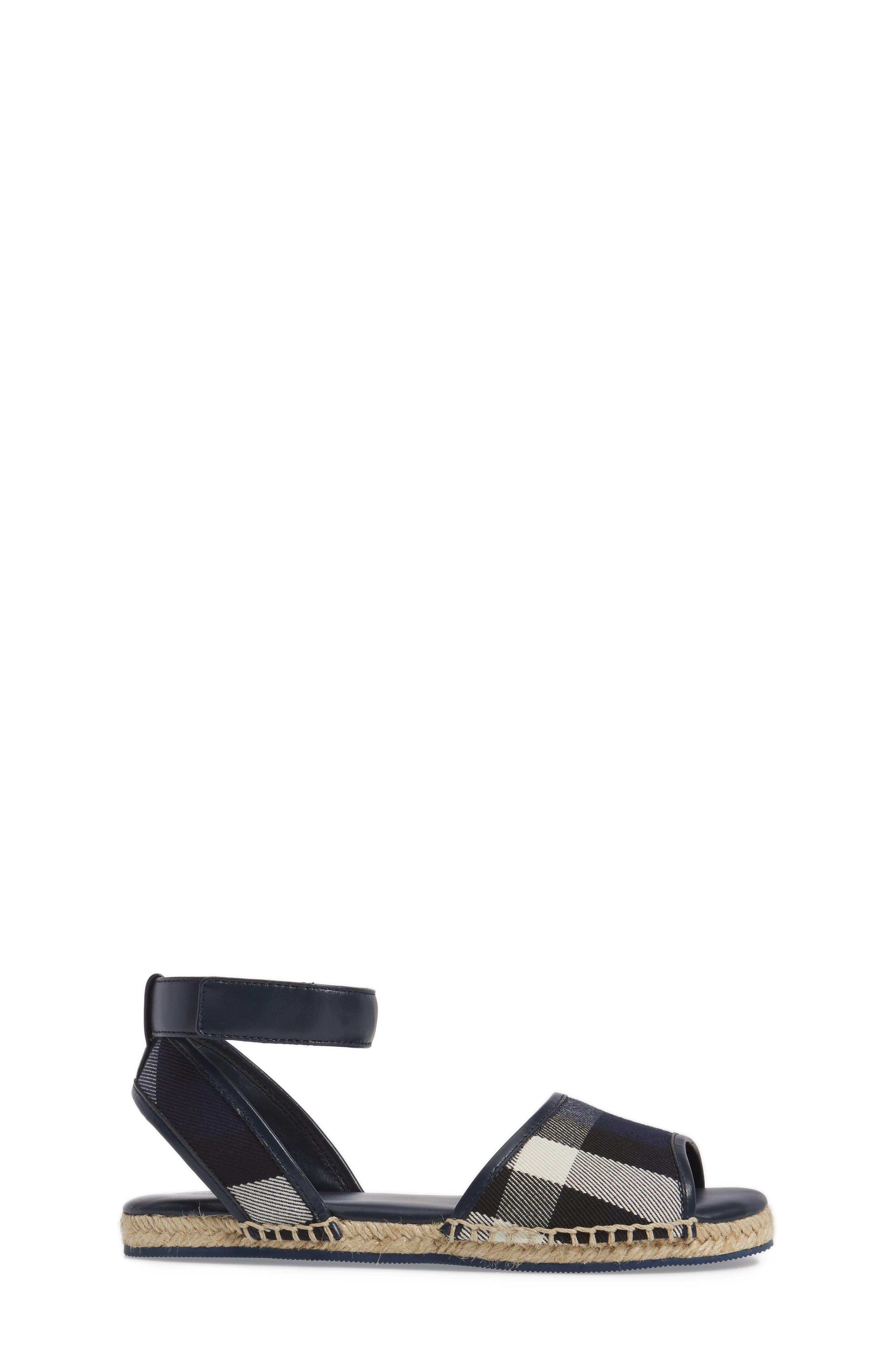 Alternate Image 3  - Burberry Livvy Ankle Strap Sandal (Walker, Toddler & Little Kid)