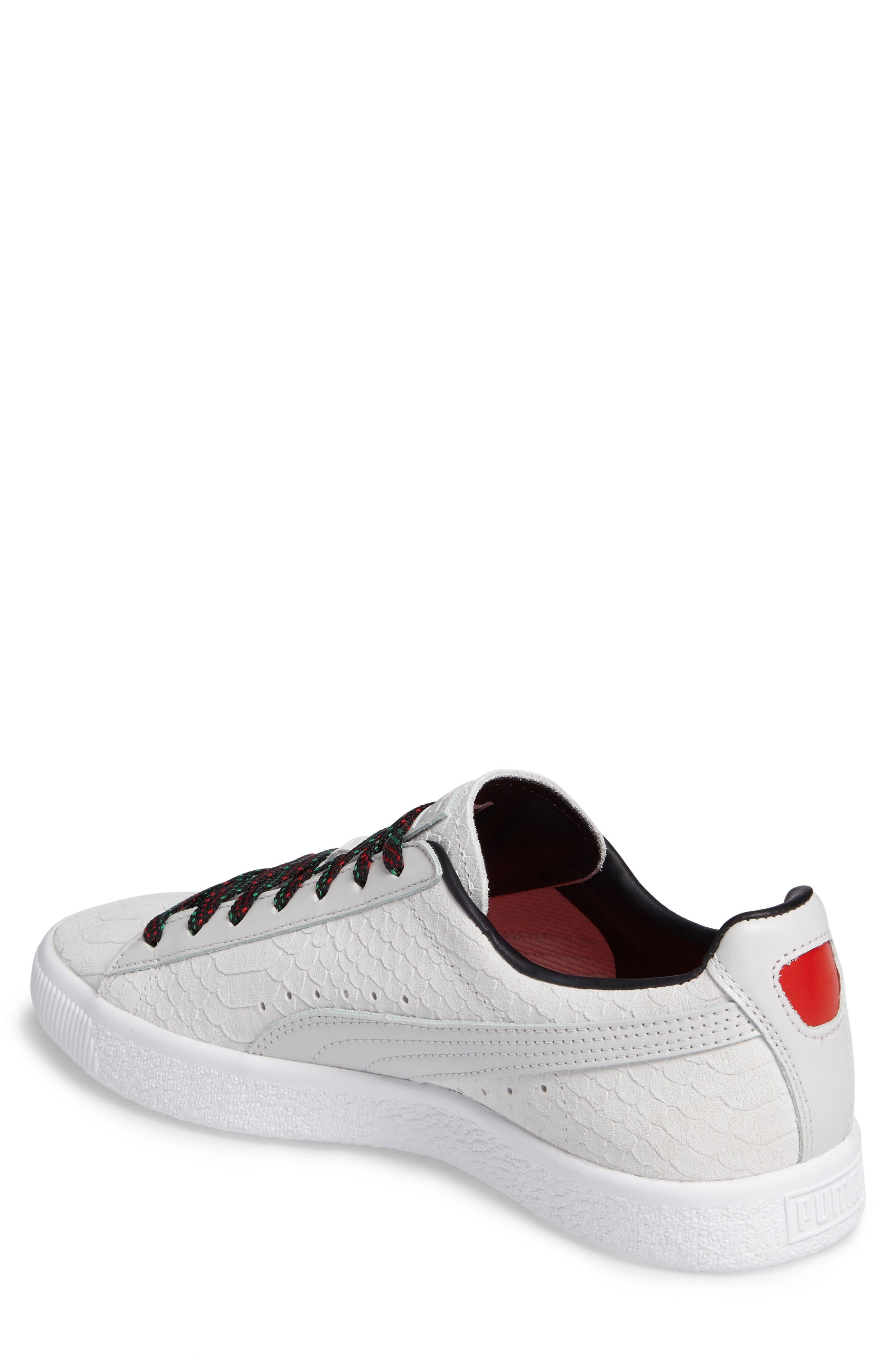 Clyde GCC Sneaker,                             Alternate thumbnail 2, color,                             White/ Puma Black