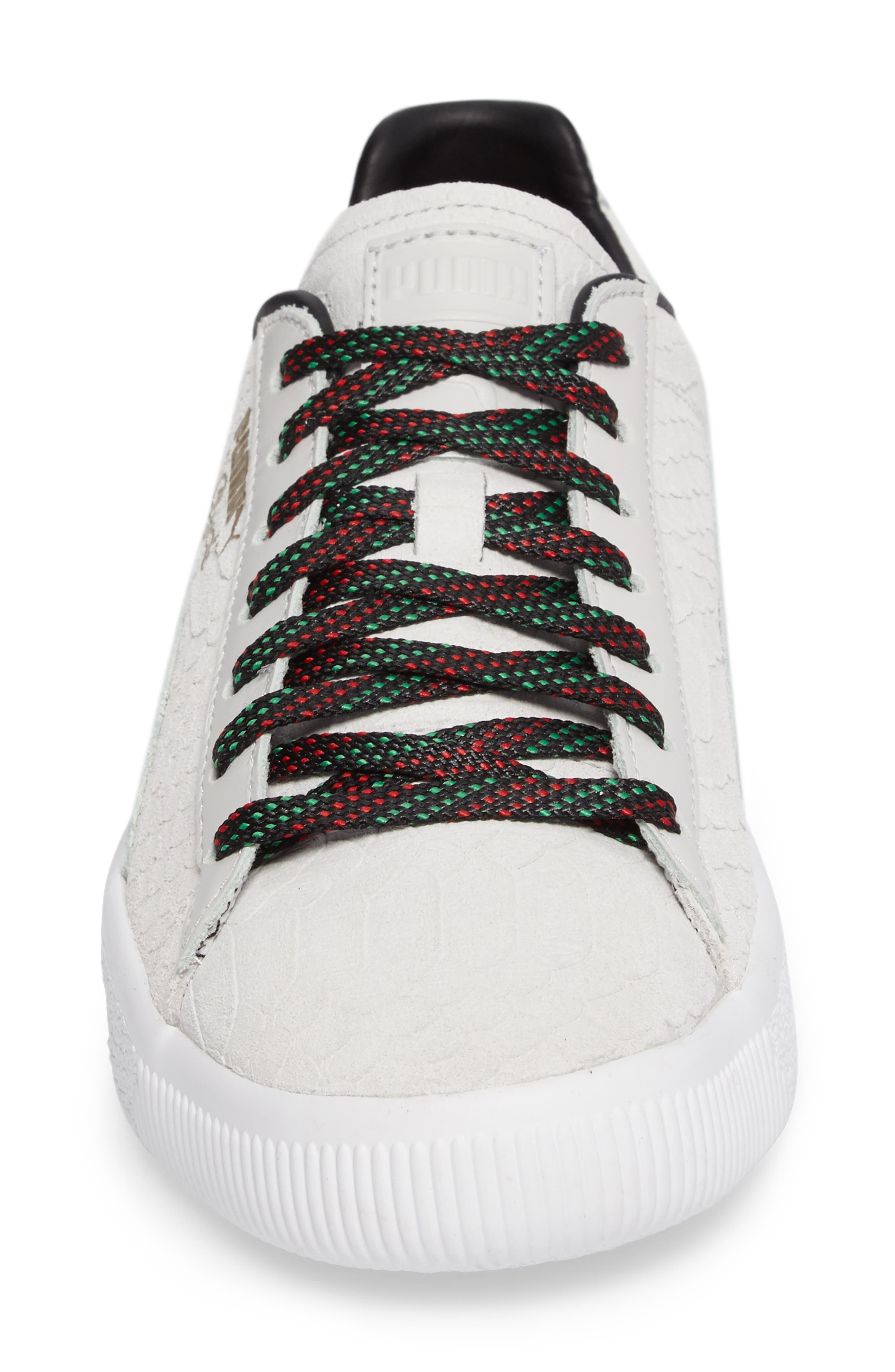 Clyde GCC Sneaker,                             Alternate thumbnail 4, color,                             White/ Puma Black