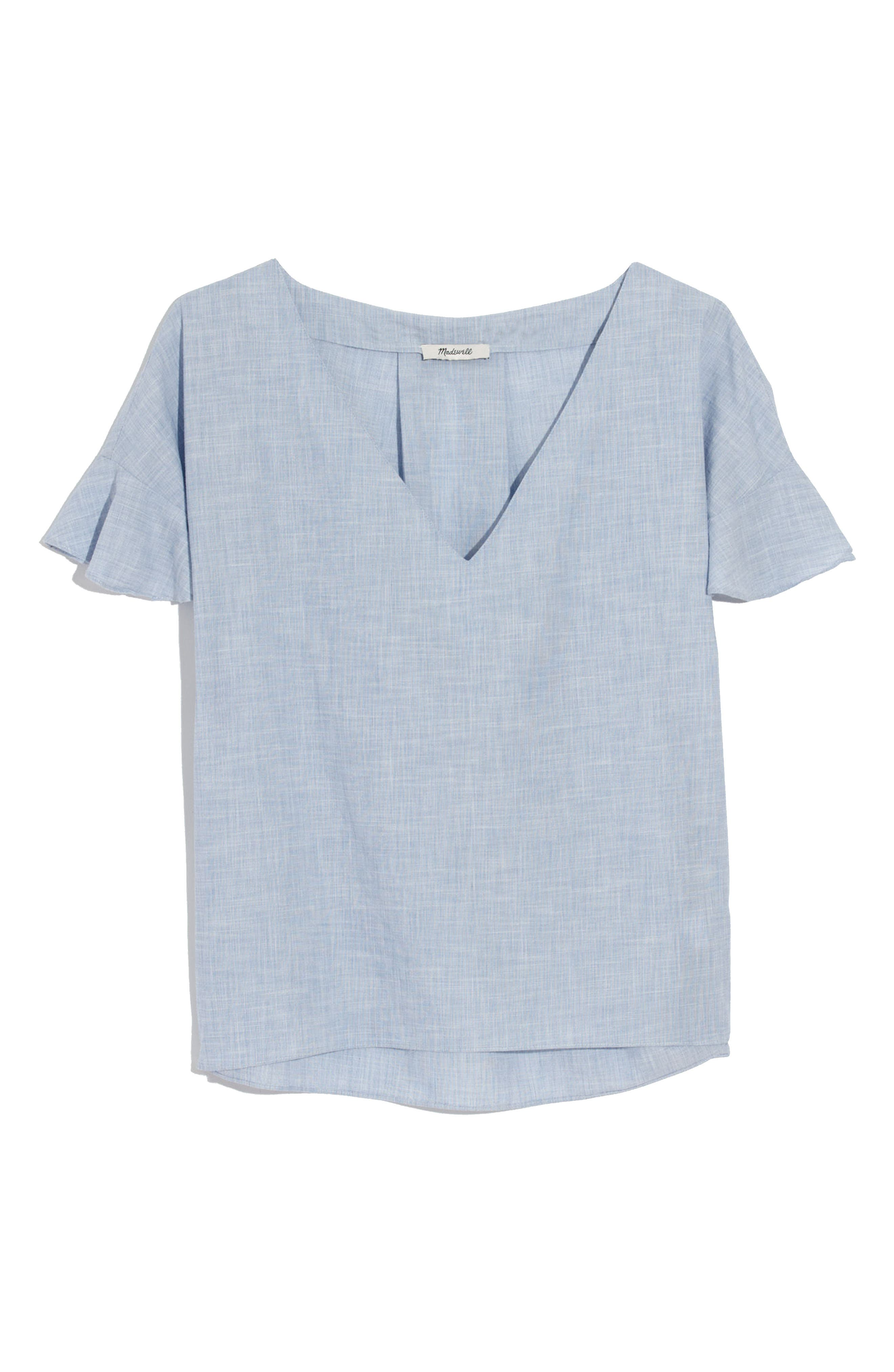 Alternate Image 4  - Madewell Sundrift Ruffle Top
