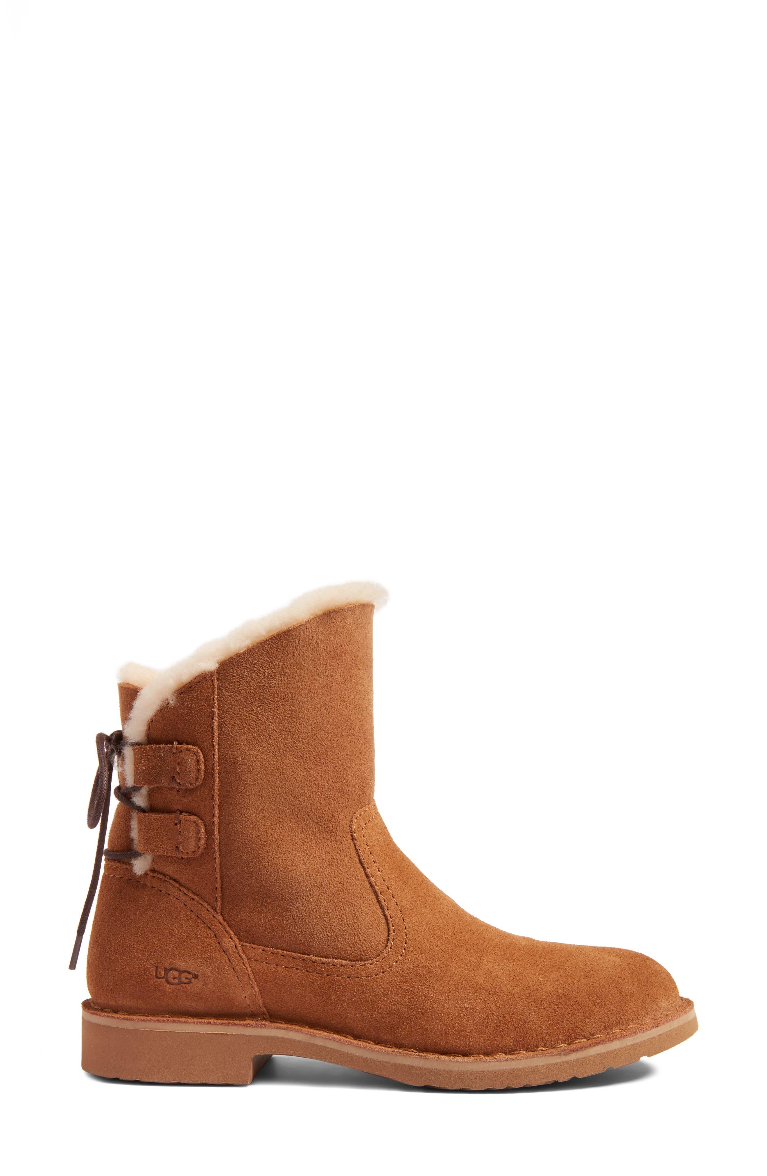 Alternate Image 3  - UGG® Naiyah Lace-Back Genuine Shearling Boot (Women)