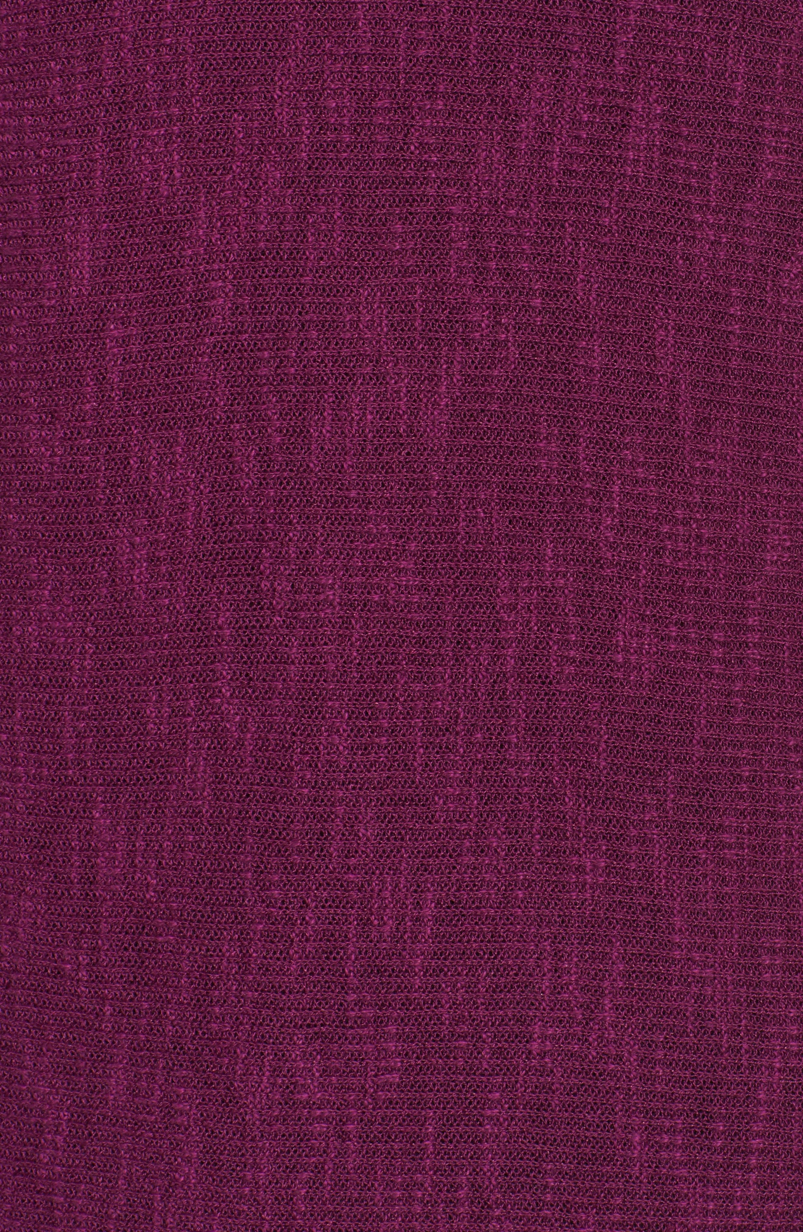 Organic Linen & Cotton Rib Sweater,                             Alternate thumbnail 5, color,                             Red