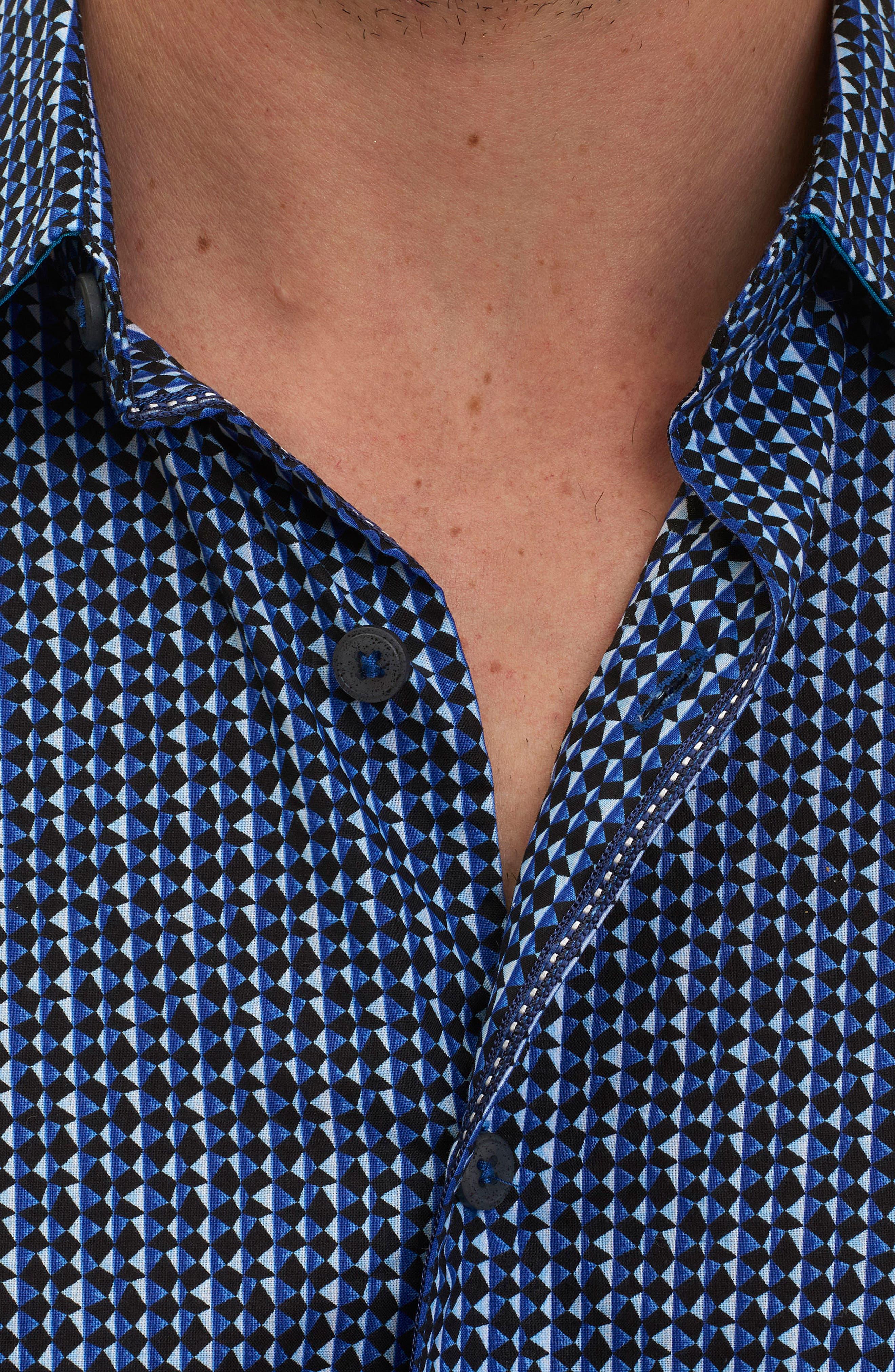 Alternate Image 4  - Robert Graham Gardena Classic Fit Geo Print Short Sleeve Sport Shirt