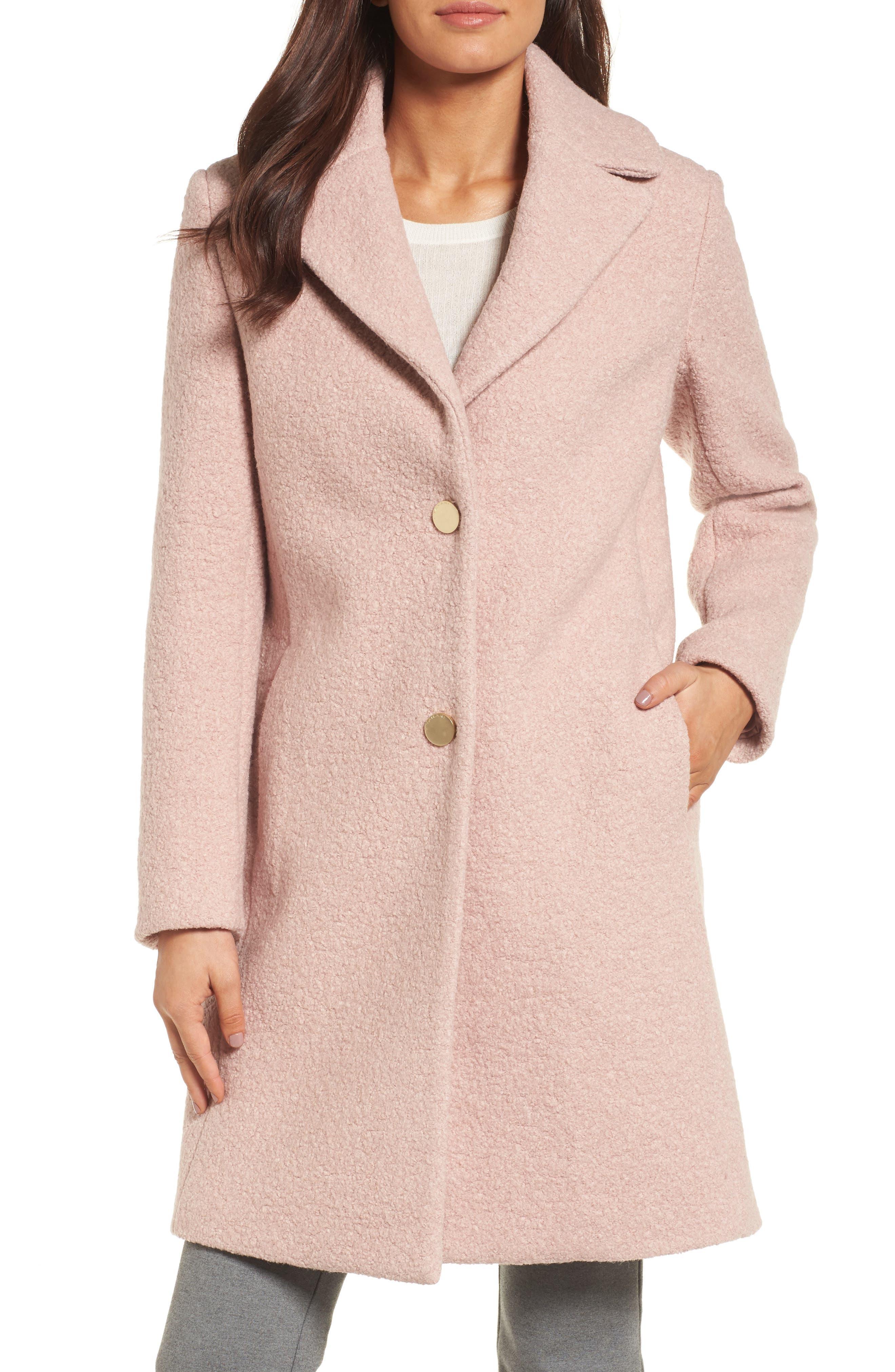 Main Image - Tahari 'Tessa' Boiled Wool Blend Coat