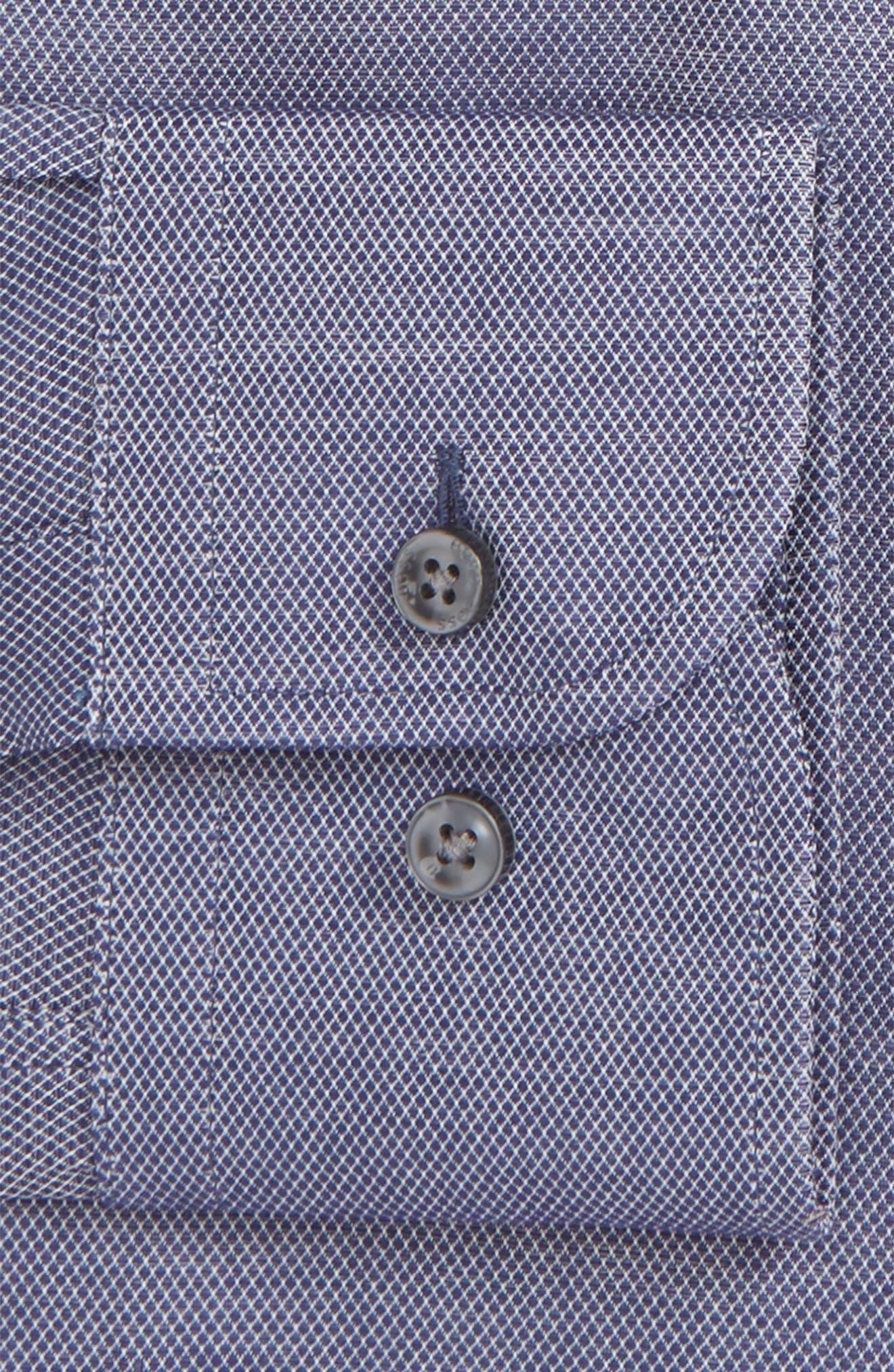 Jerrin Slim Fit Diamond Dress Shirt,                             Alternate thumbnail 2, color,                             Navy