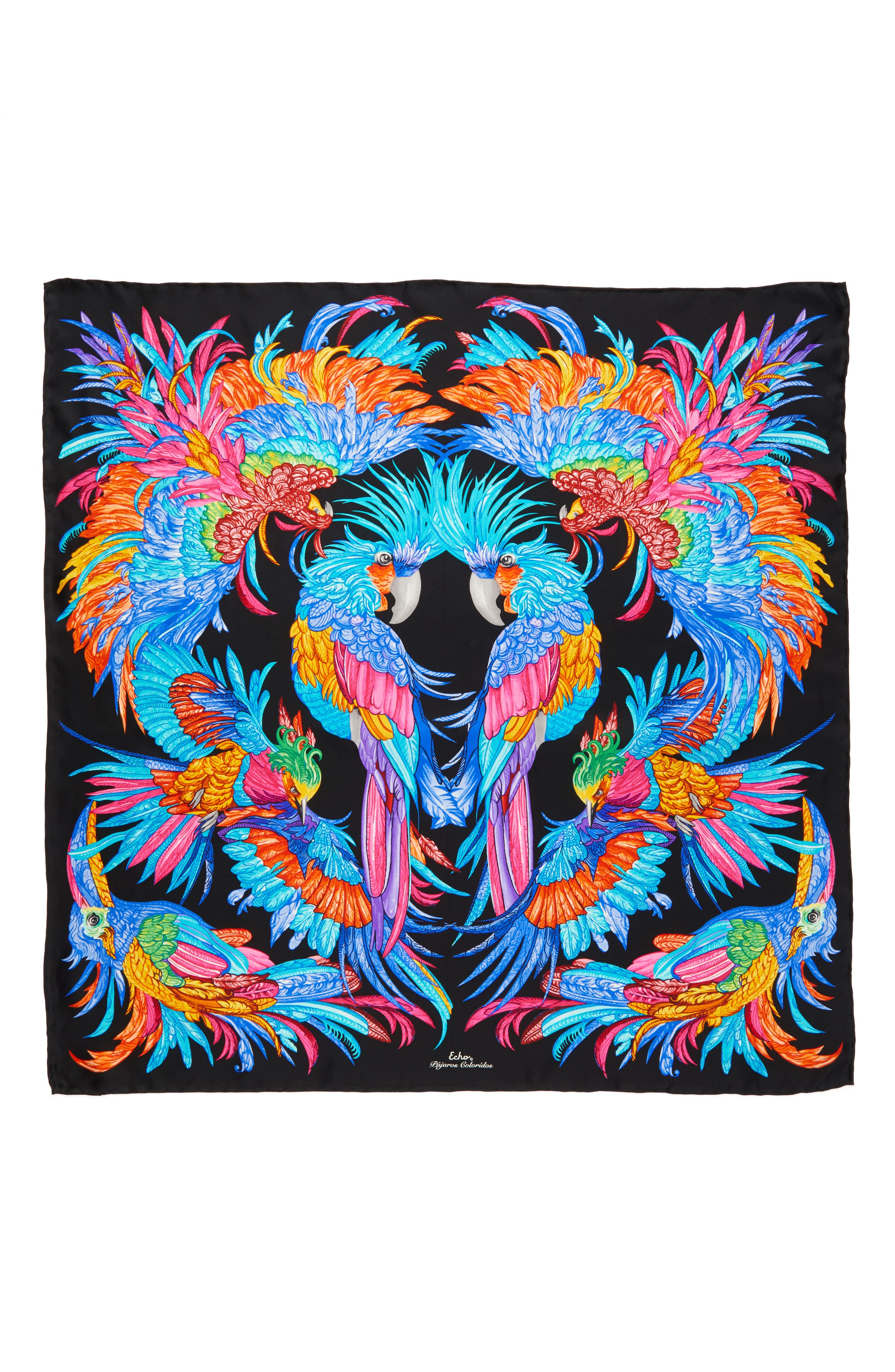 Alternate Image 2  - Echo Parajos Coloridos Square Silk Scarf