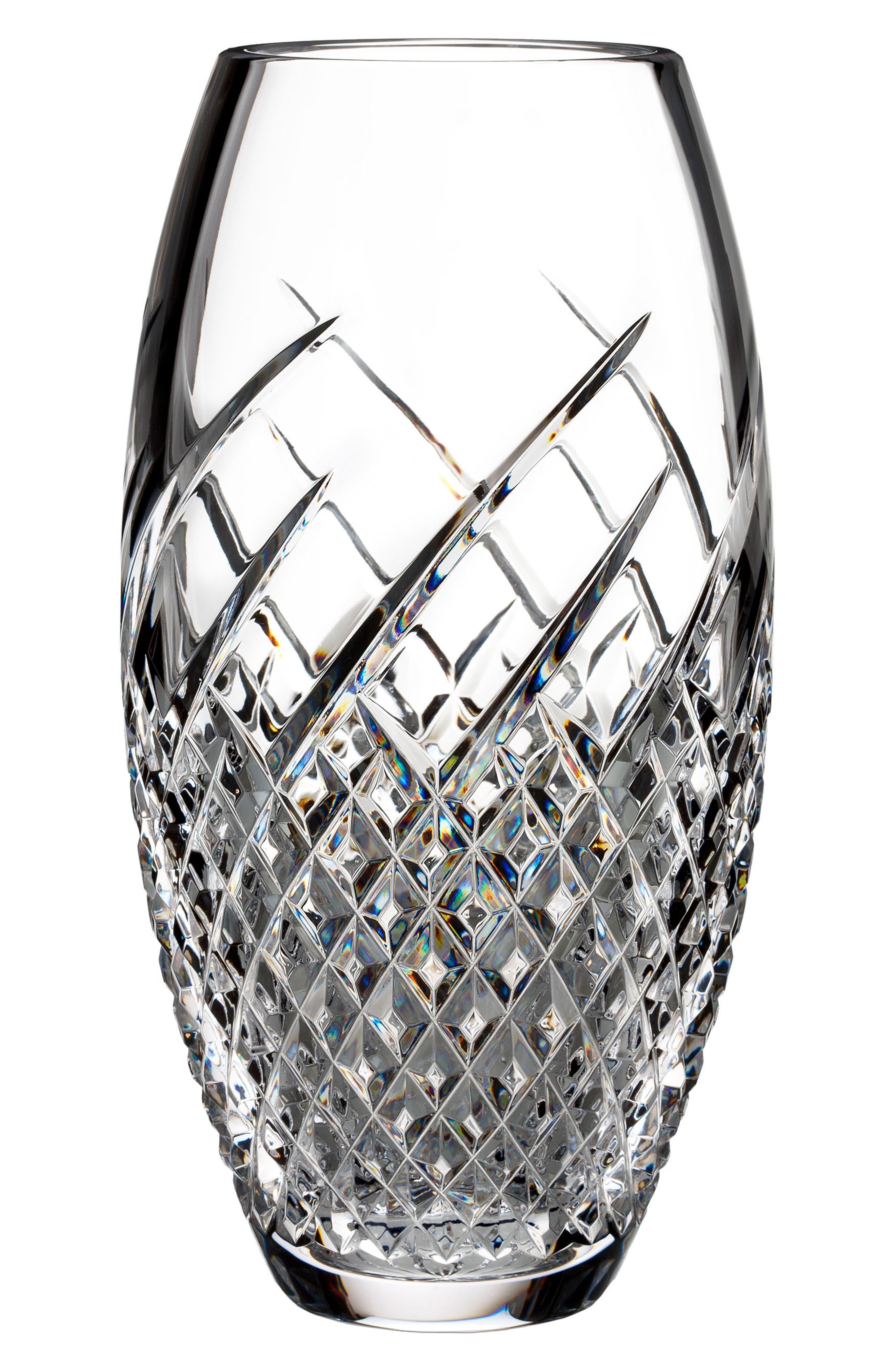 Wild Atlantic Way Lead Crystal Vase,                         Main,                         color, Crystal