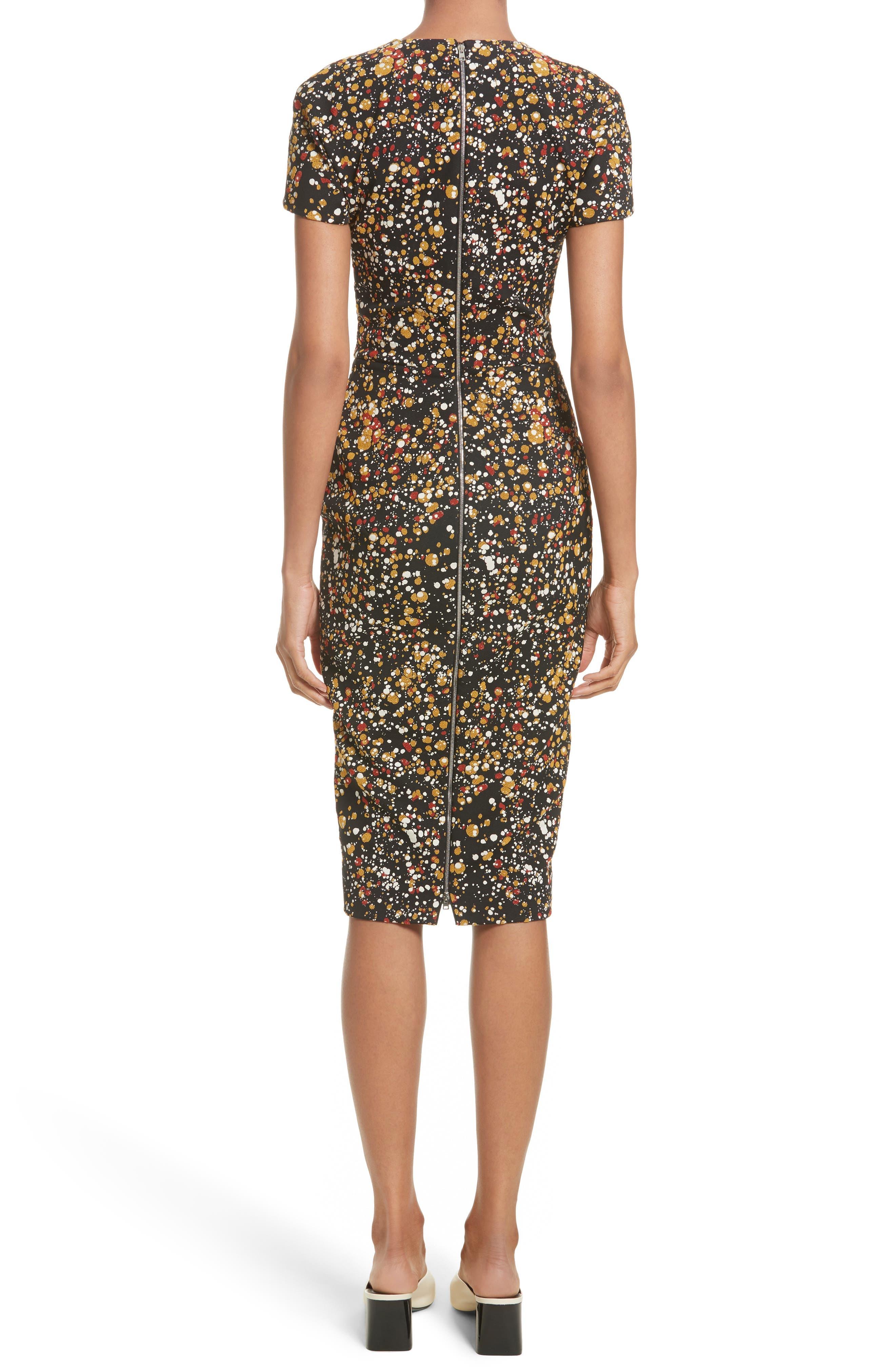 Alternate Image 2  - Victoria Beckham Marble Jacquard Dress