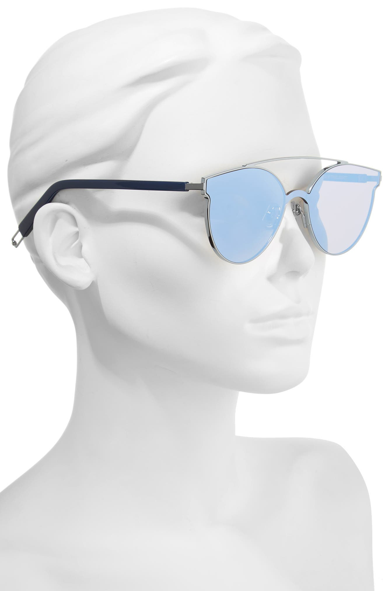 Tilda Swinton x Gentle Monster Trick of the Light 60mm Shield Sunglasses,                             Alternate thumbnail 2, color,                             Blue Mirror