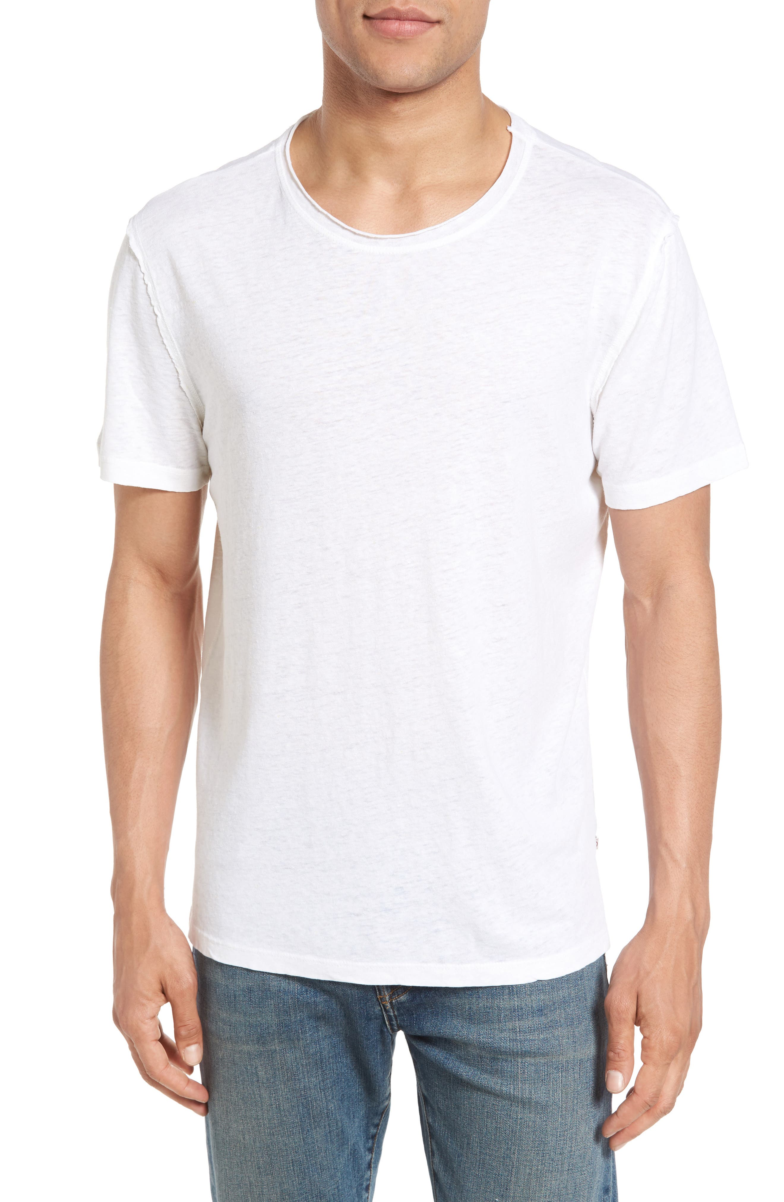 AG Theo Slim Fit Hemp & Organic Cotton Crewneck T-Shirt