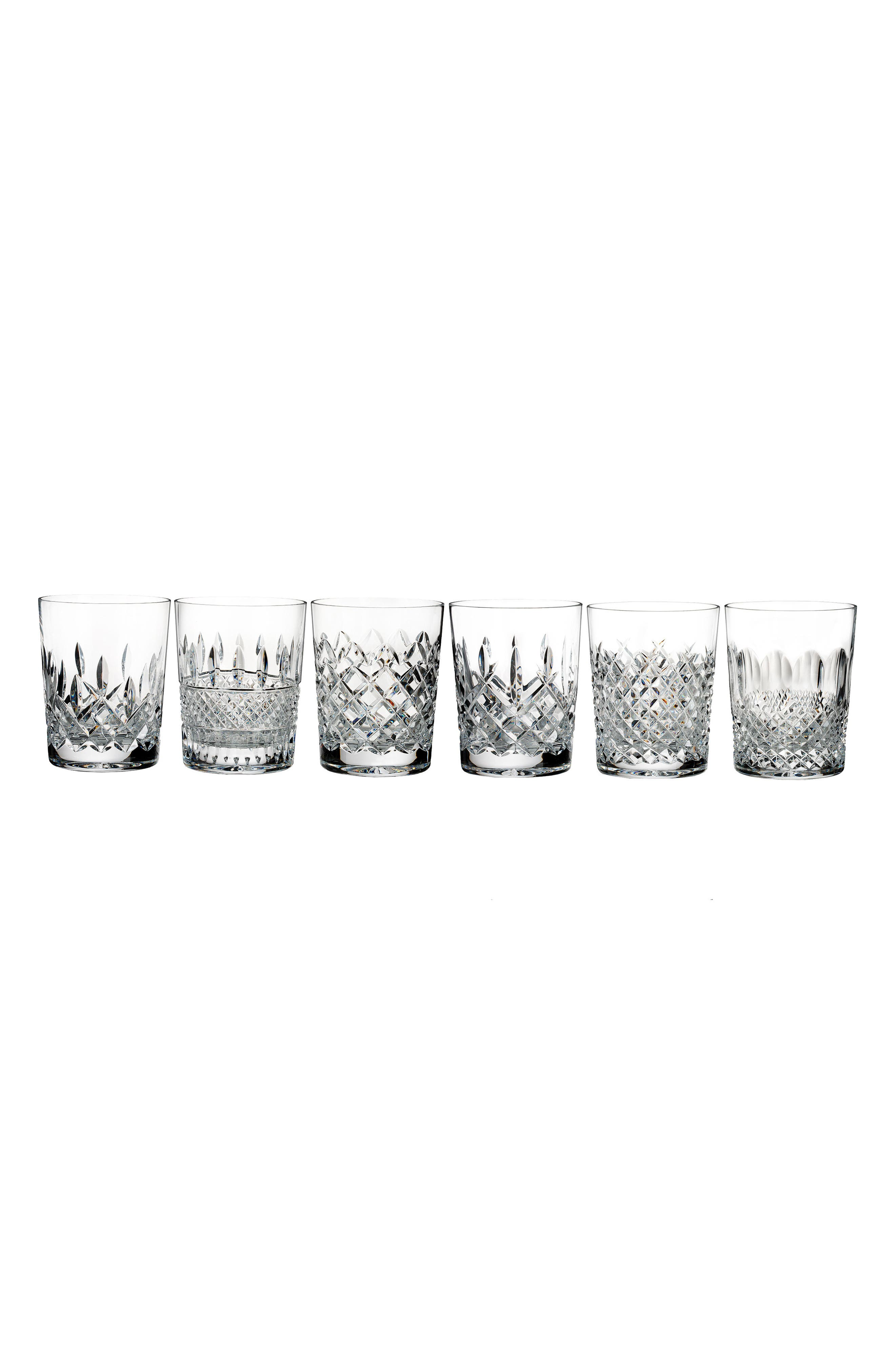 Connoisseur Set of 6 Lead Crystal Double Old Fashioned Glasses,                         Main,                         color, Crystal