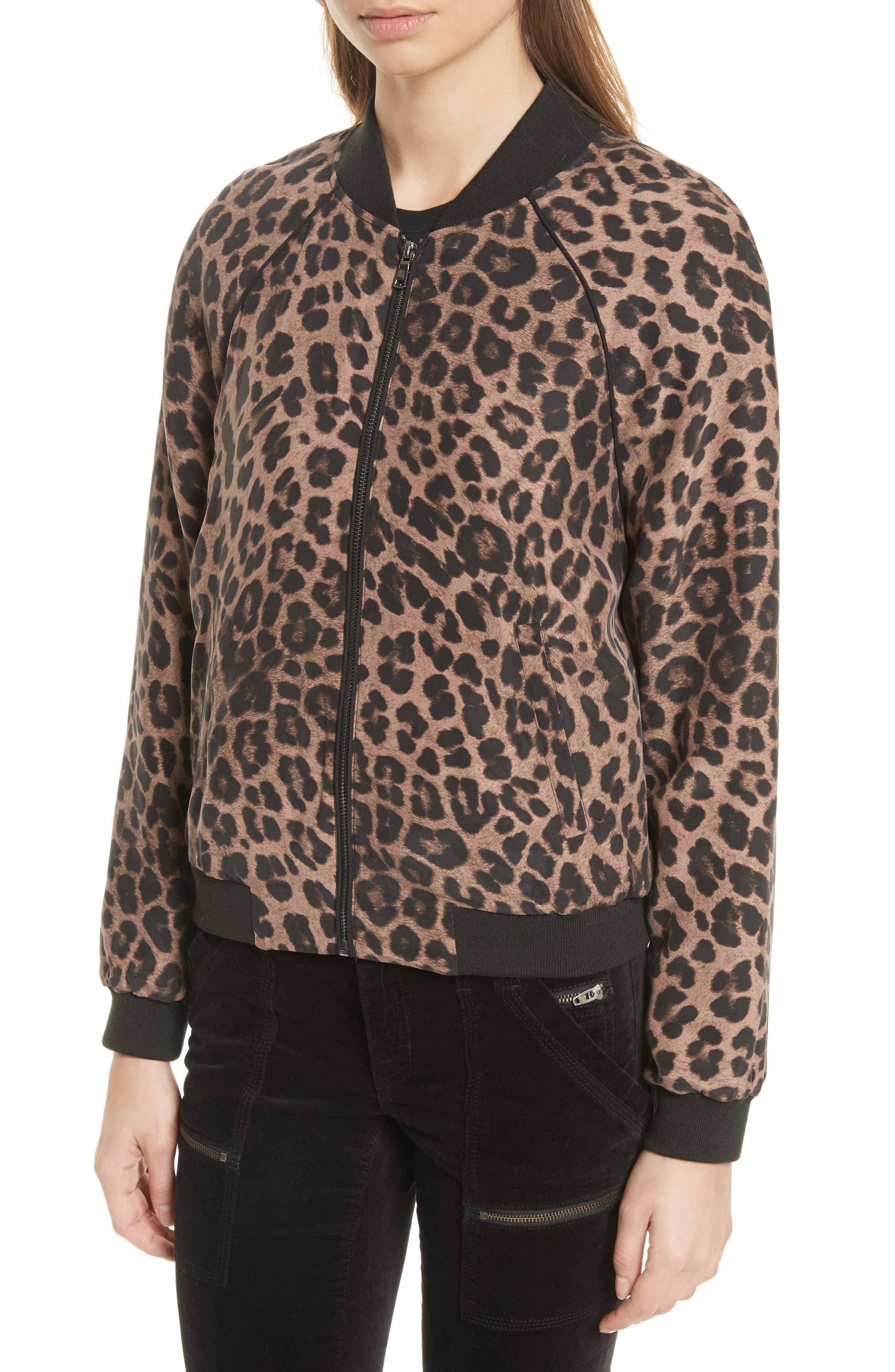 Alternate Image 4  - Joie Julita Leopard Print Silk Jacket