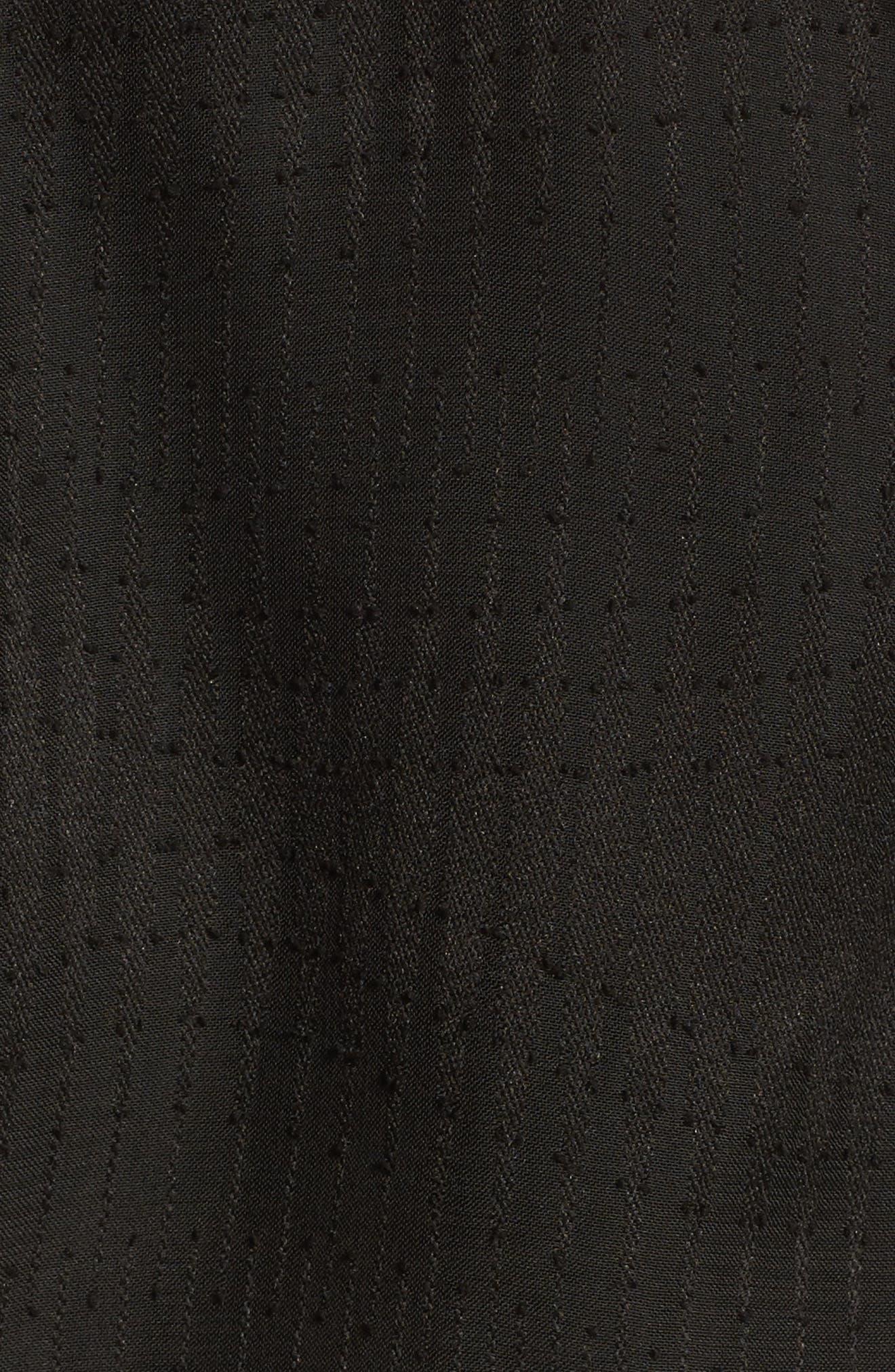 Cold Shoulder Romper,                             Alternate thumbnail 5, color,                             Black