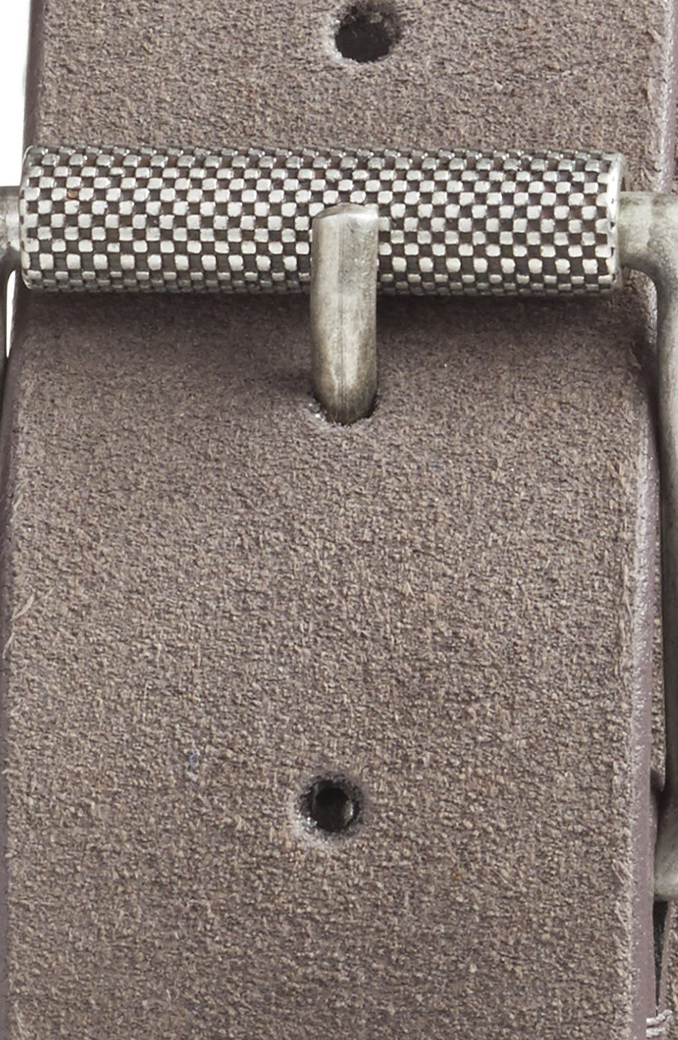 Alternate Image 2  - 1901 Adrian Roller Buckle Suede Belt