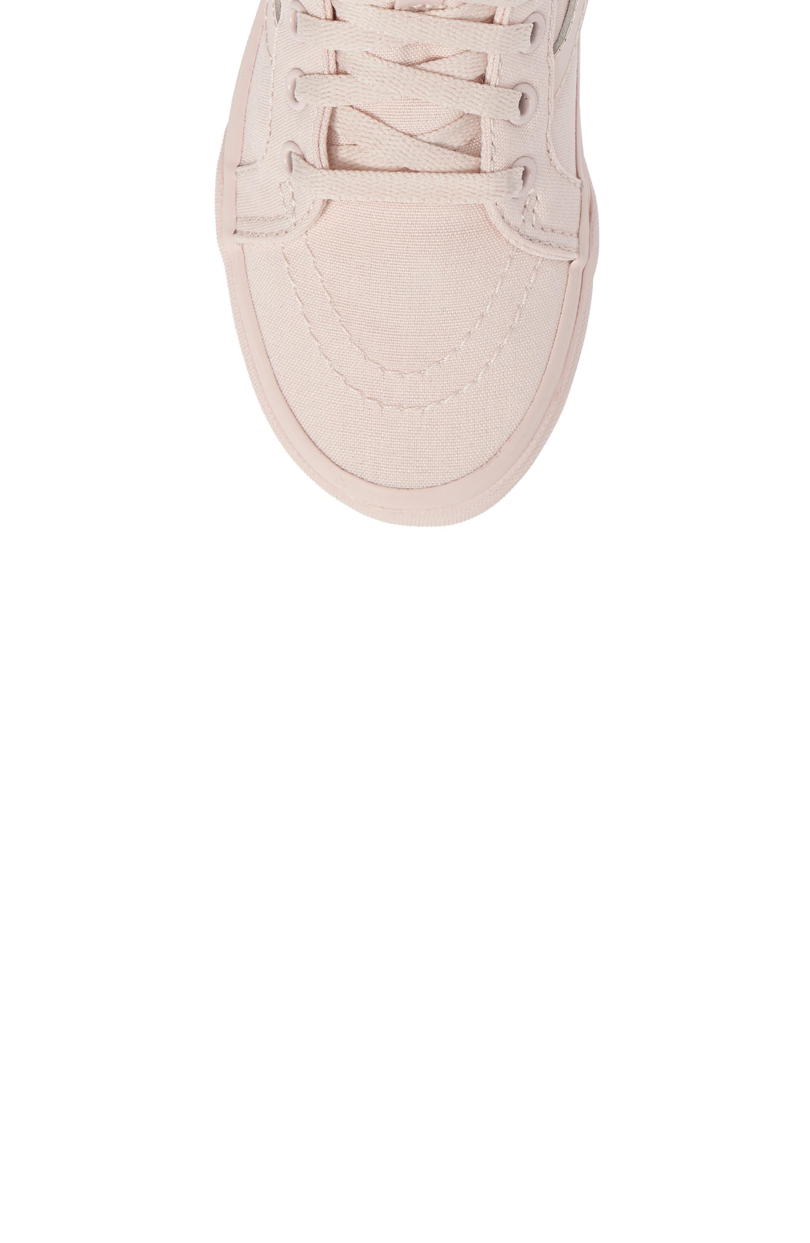 SK8-Hi Zip Sneaker,                             Alternate thumbnail 5, color,                             Peach Blush Canvas
