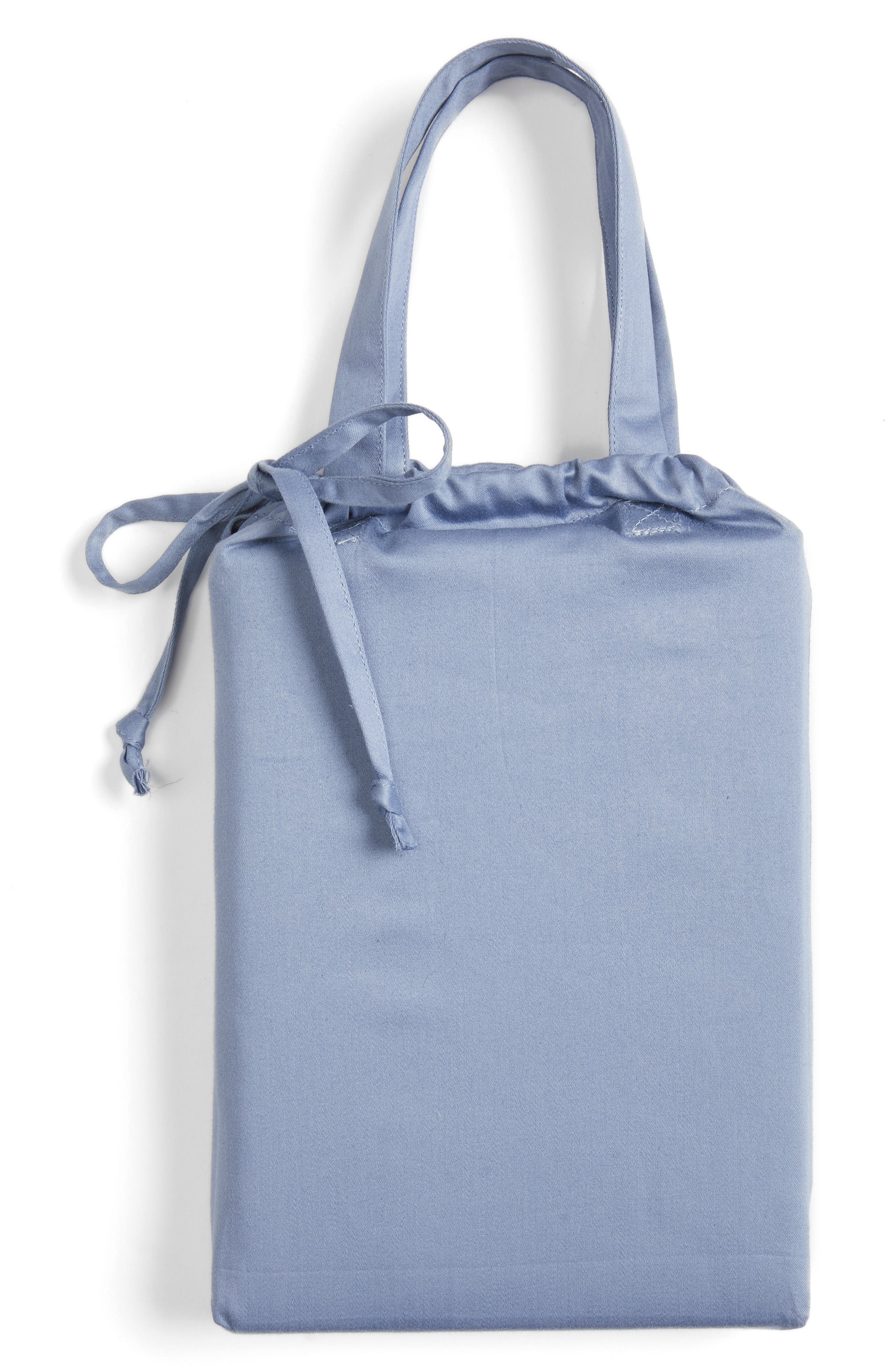400 Thread Count Organic Cotton Pillowcases,                             Alternate thumbnail 2, color,                             Blue Stonewash