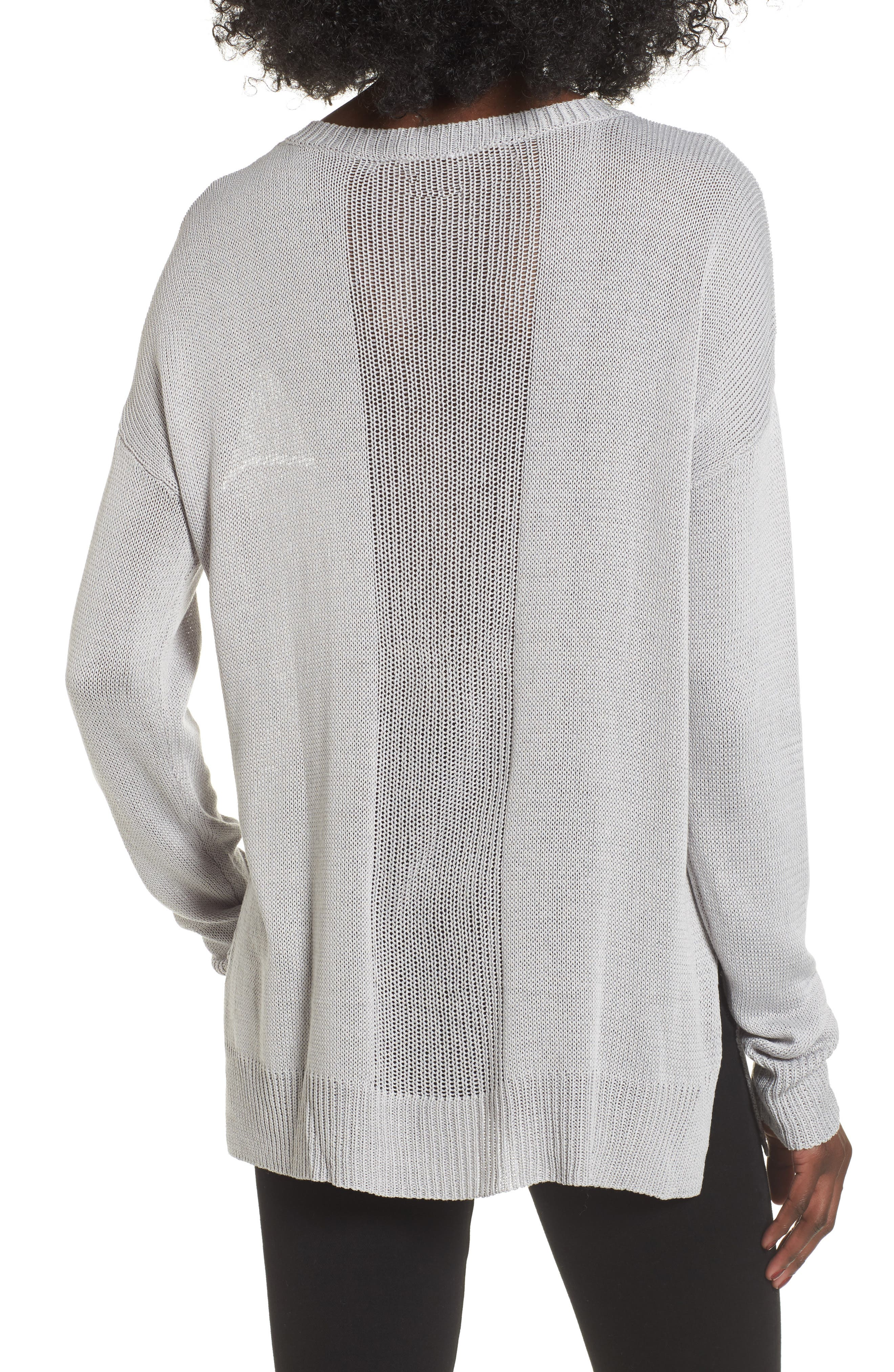 Alternate Image 2  - ASTR the Label Open Lines V-Neck Sweater