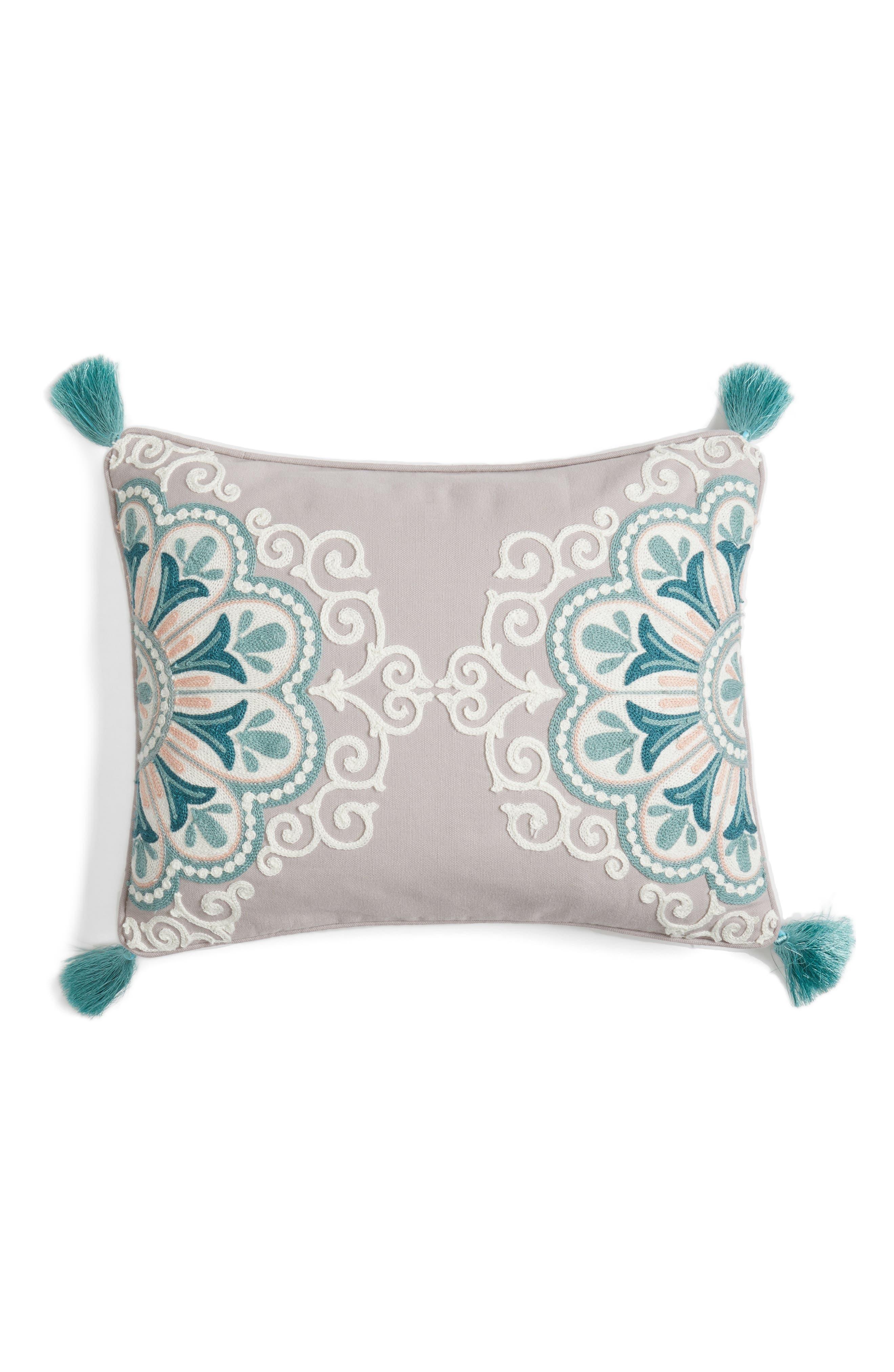 Main Image - Levtex Addie Embroidered Tassel Pillow