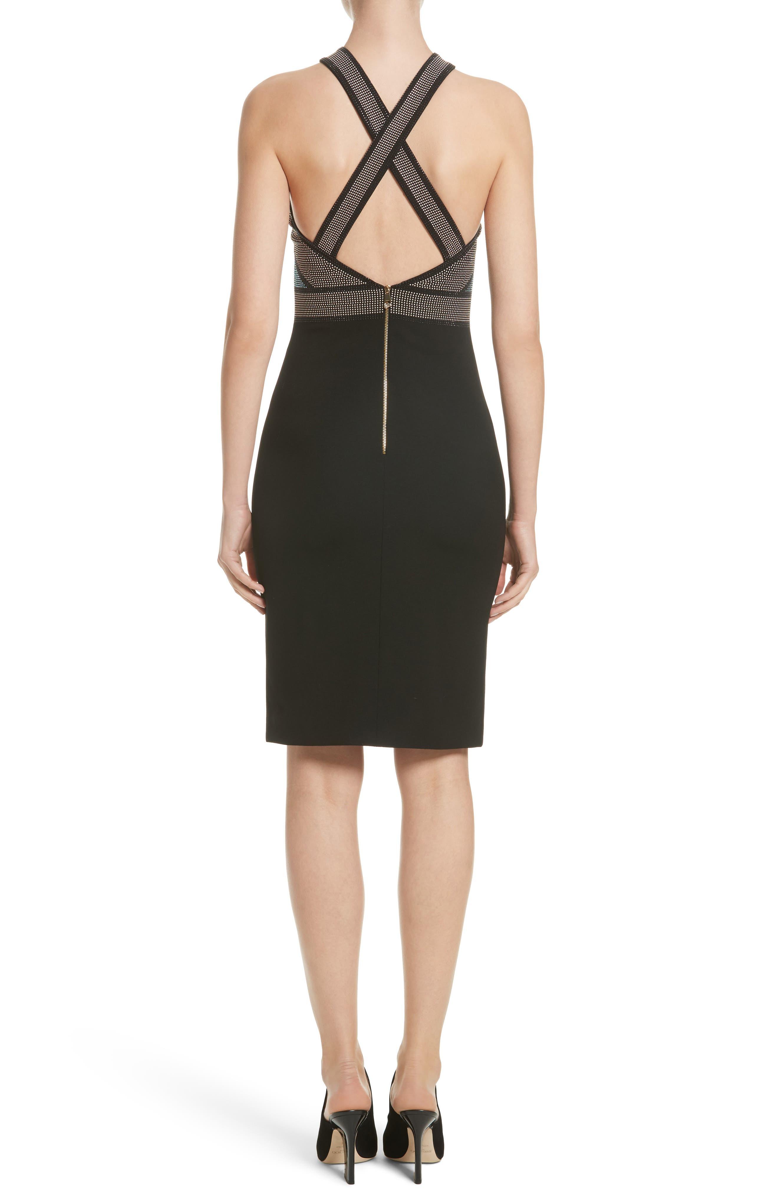 Alternate Image 2  - Versace Rhinestone Halter Dress