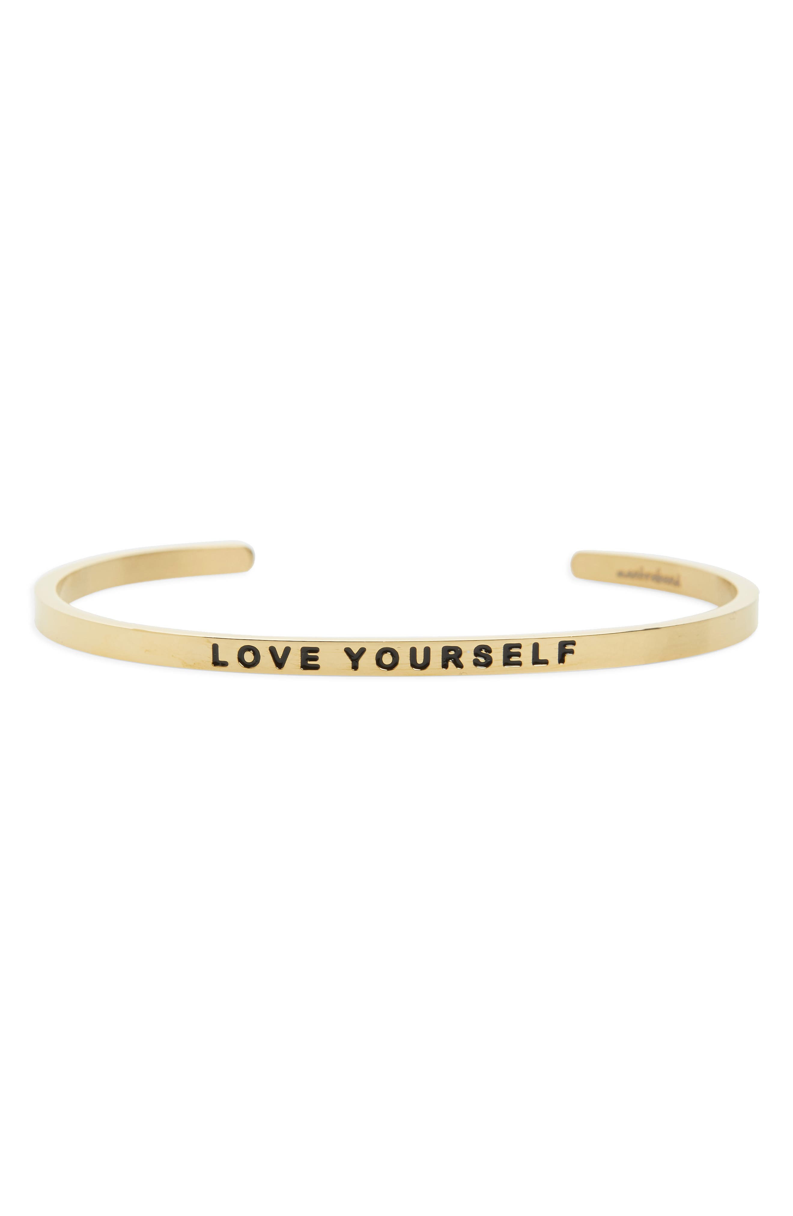 MANTRABAND Love Yourself Engraved Cuff