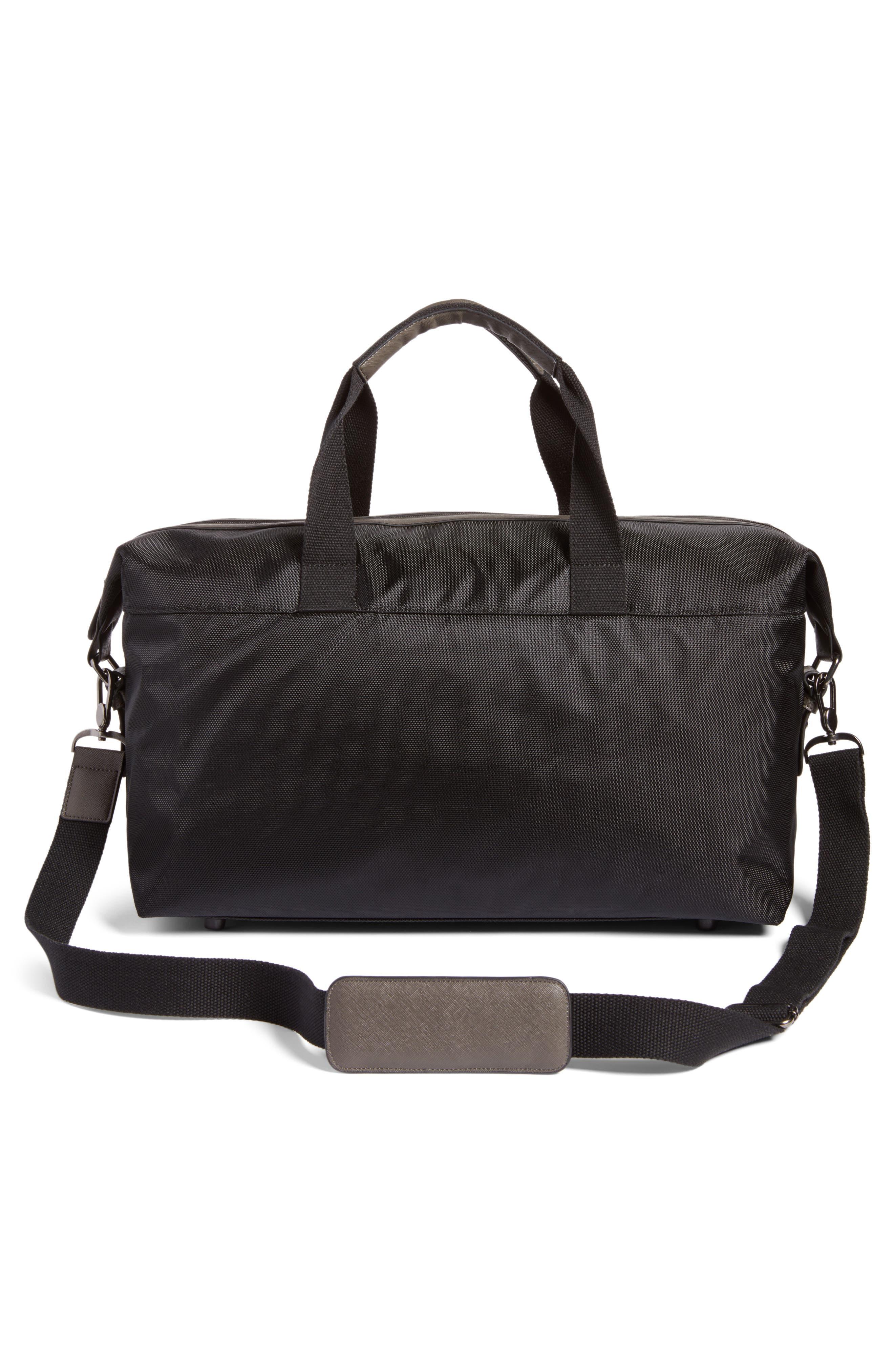 Zeebee Duffel Bag,                             Alternate thumbnail 3, color,                             Black