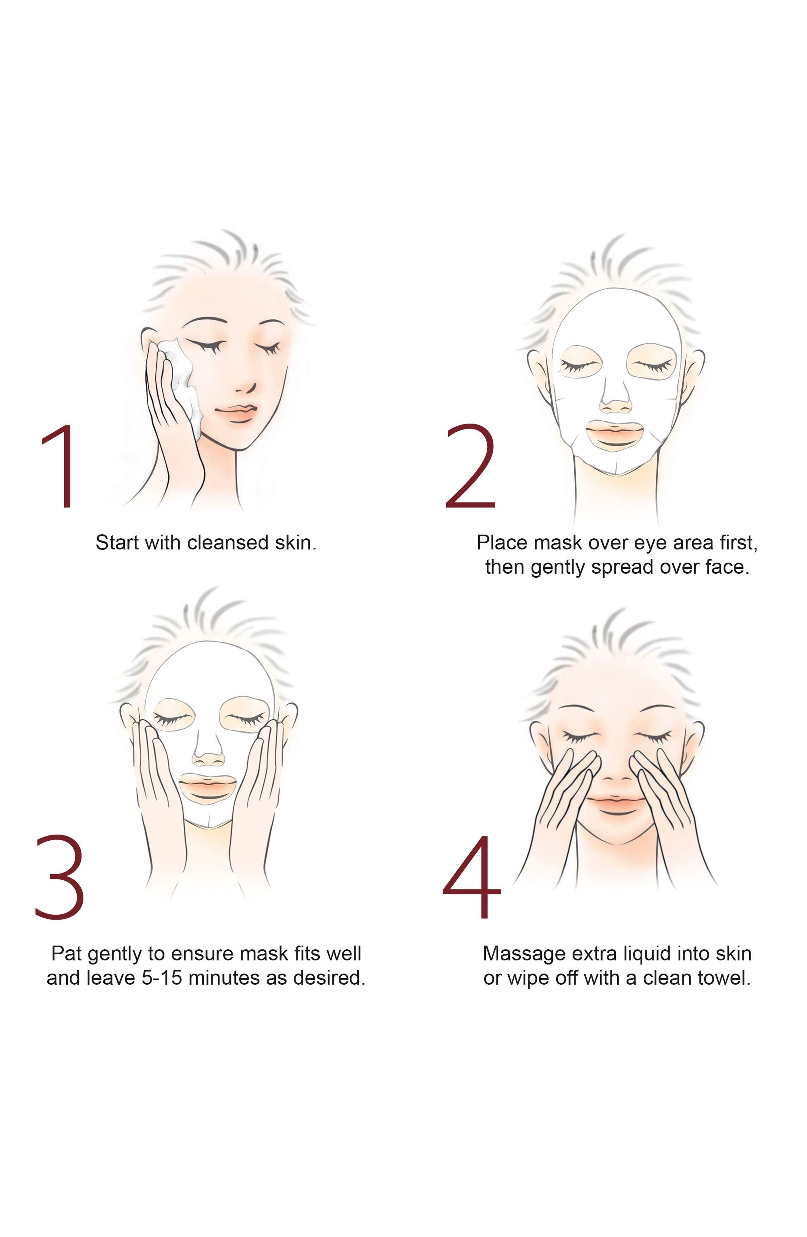 Facial Treatment Mask,                             Alternate thumbnail 2, color,                             No Color