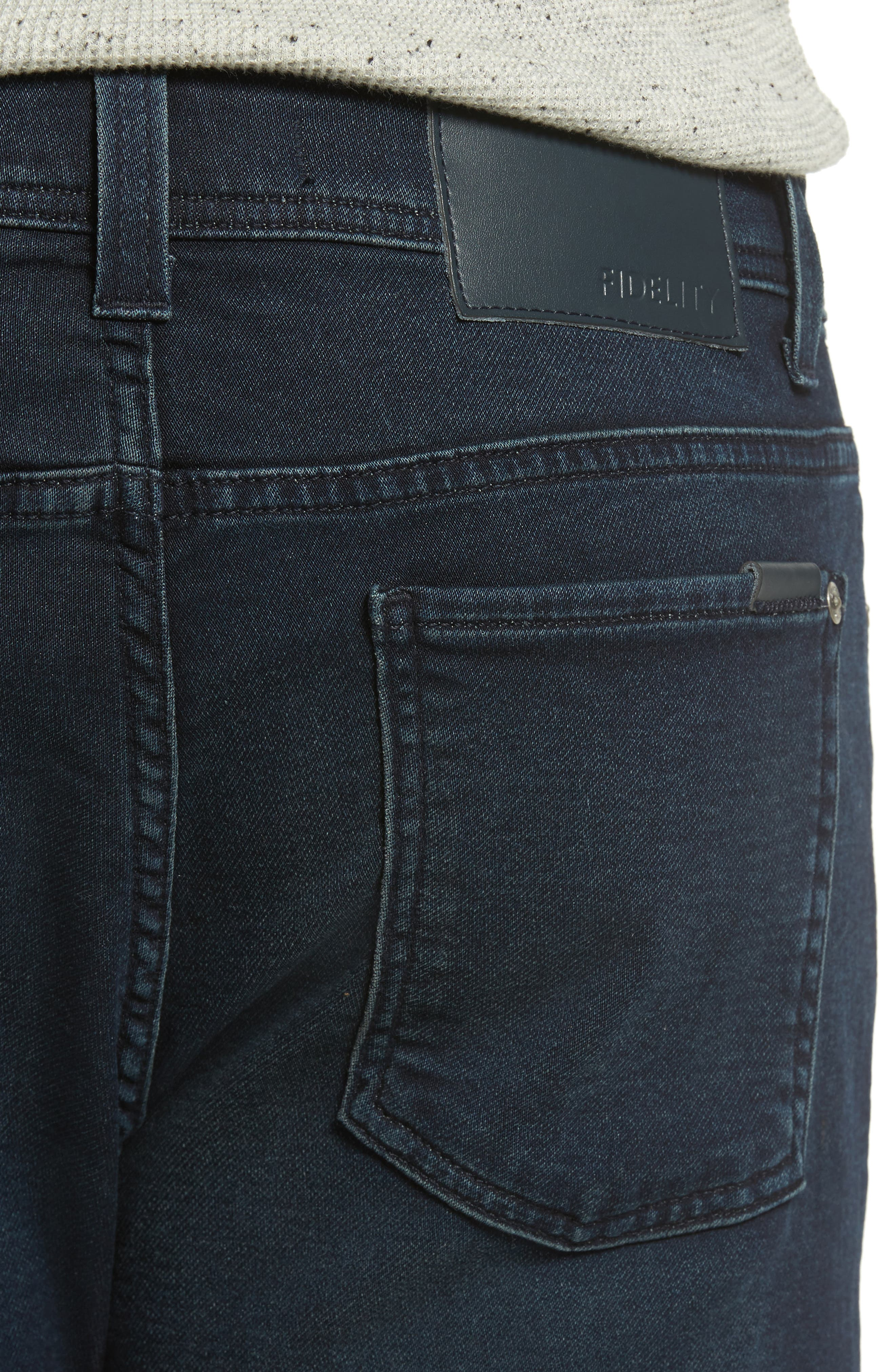 Jimmy Slim Straight Leg Jeans,                             Alternate thumbnail 4, color,                             Oxy Midnight
