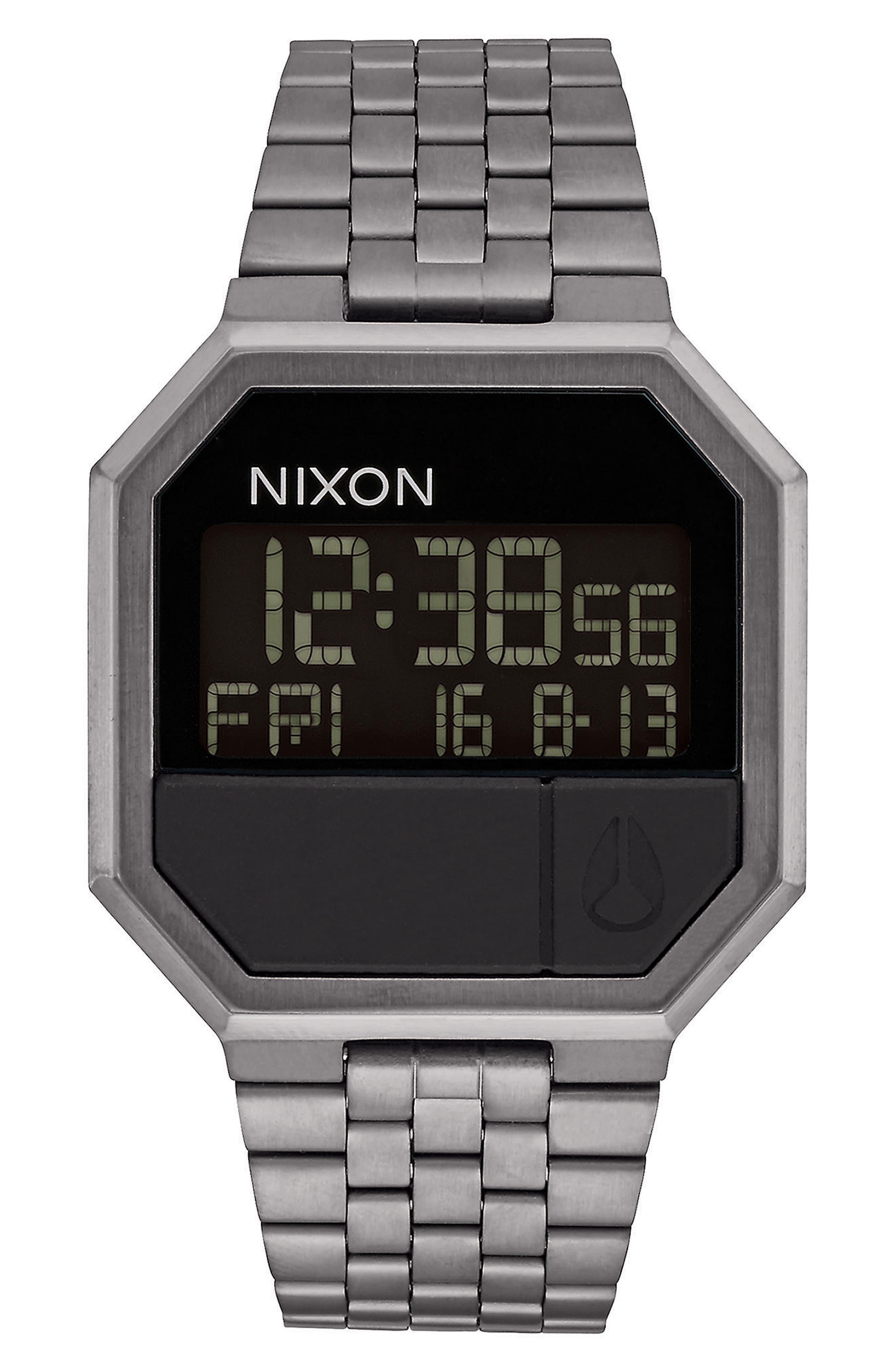 Main Image - Nixon Rerun Digital Bracelet Watch, 39mm
