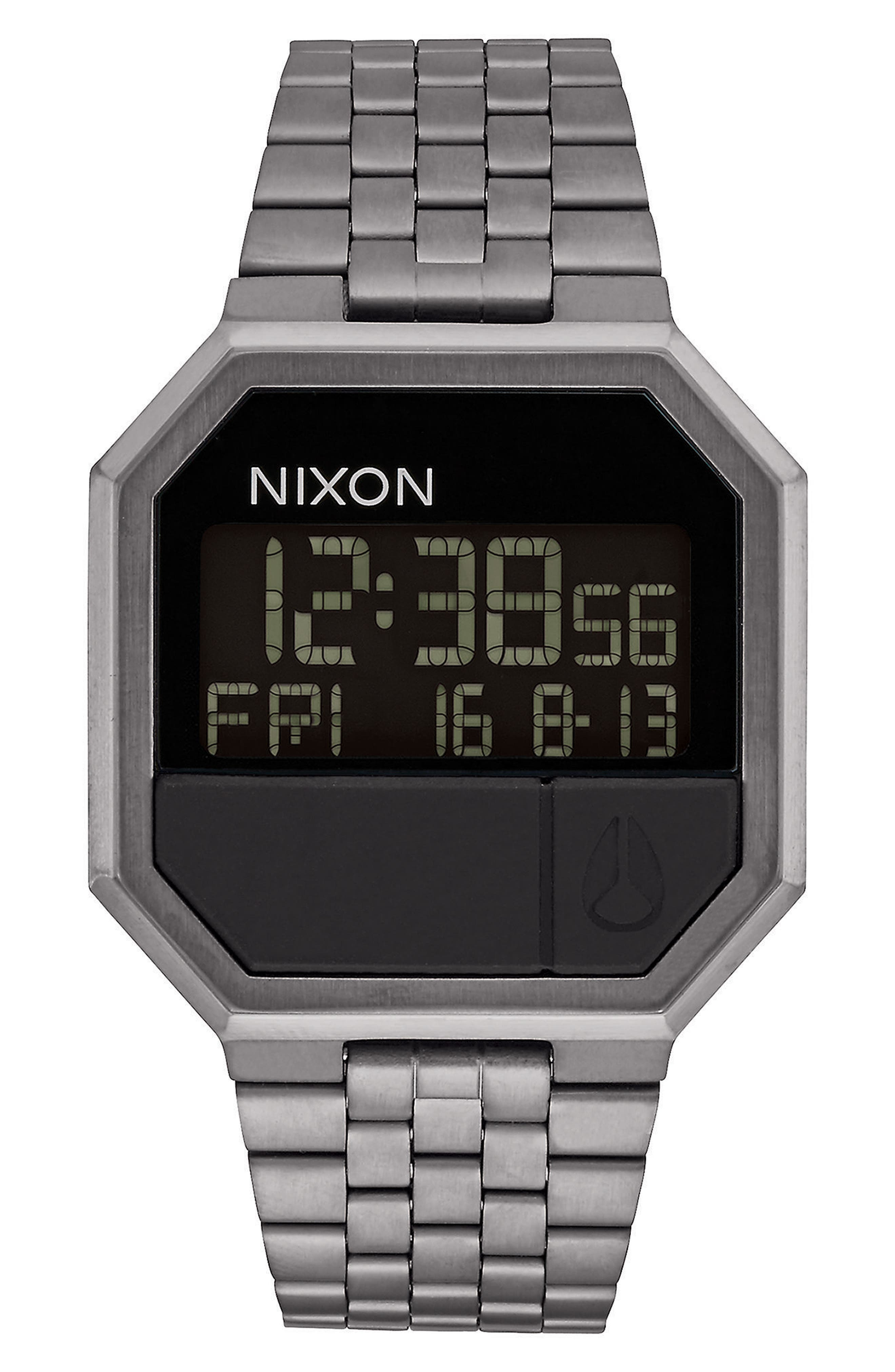 Rerun Digital Bracelet Watch, 39mm,                         Main,                         color, Gunmetal