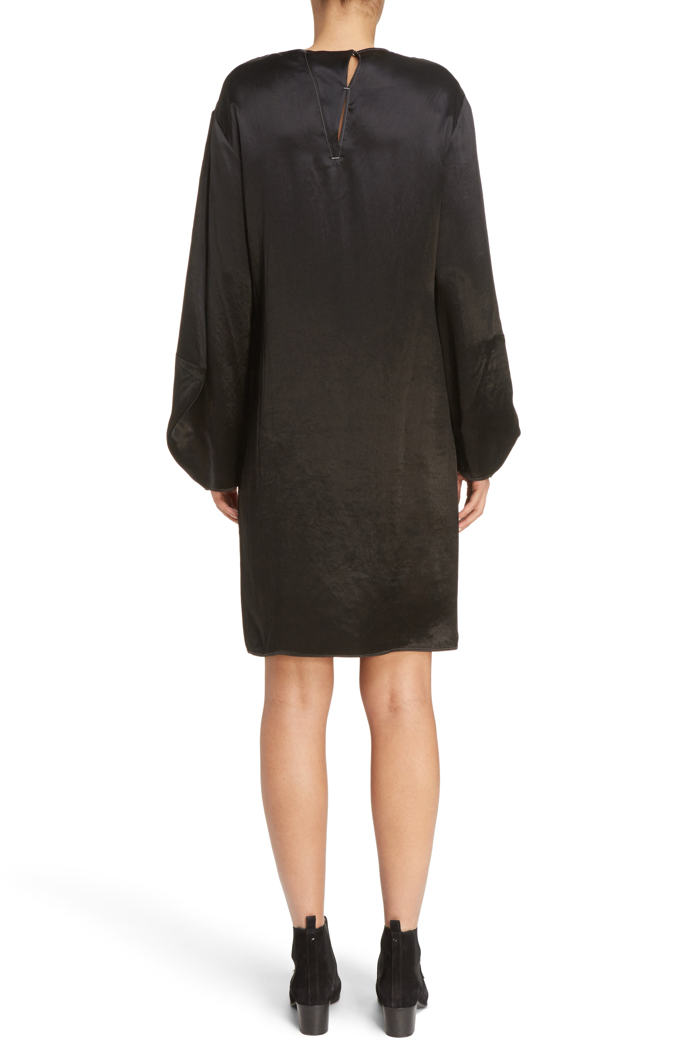 Dorina Flounce Sleeve Dress,                             Alternate thumbnail 2, color,                             Black