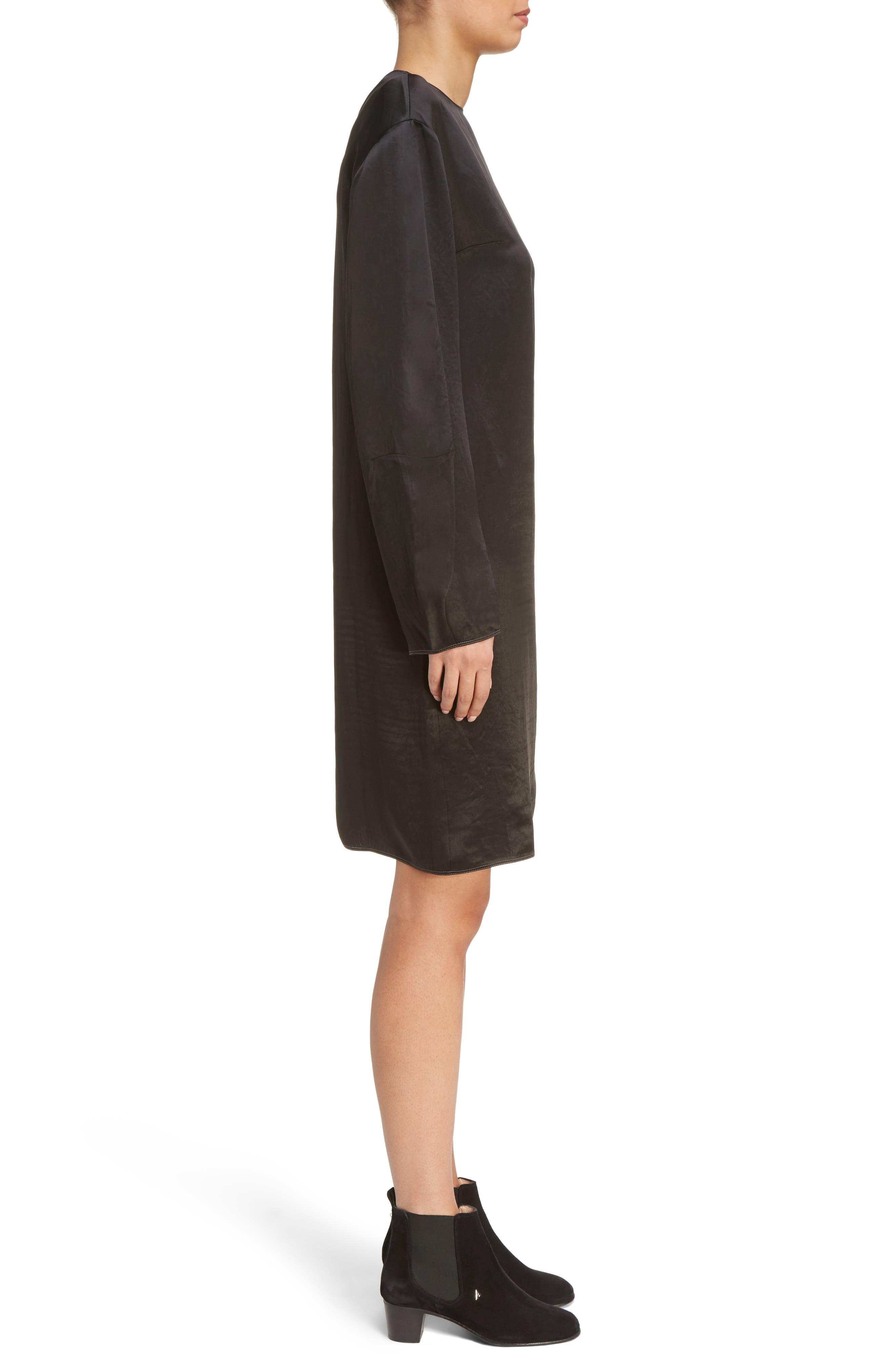 Dorina Flounce Sleeve Dress,                             Alternate thumbnail 3, color,                             Black