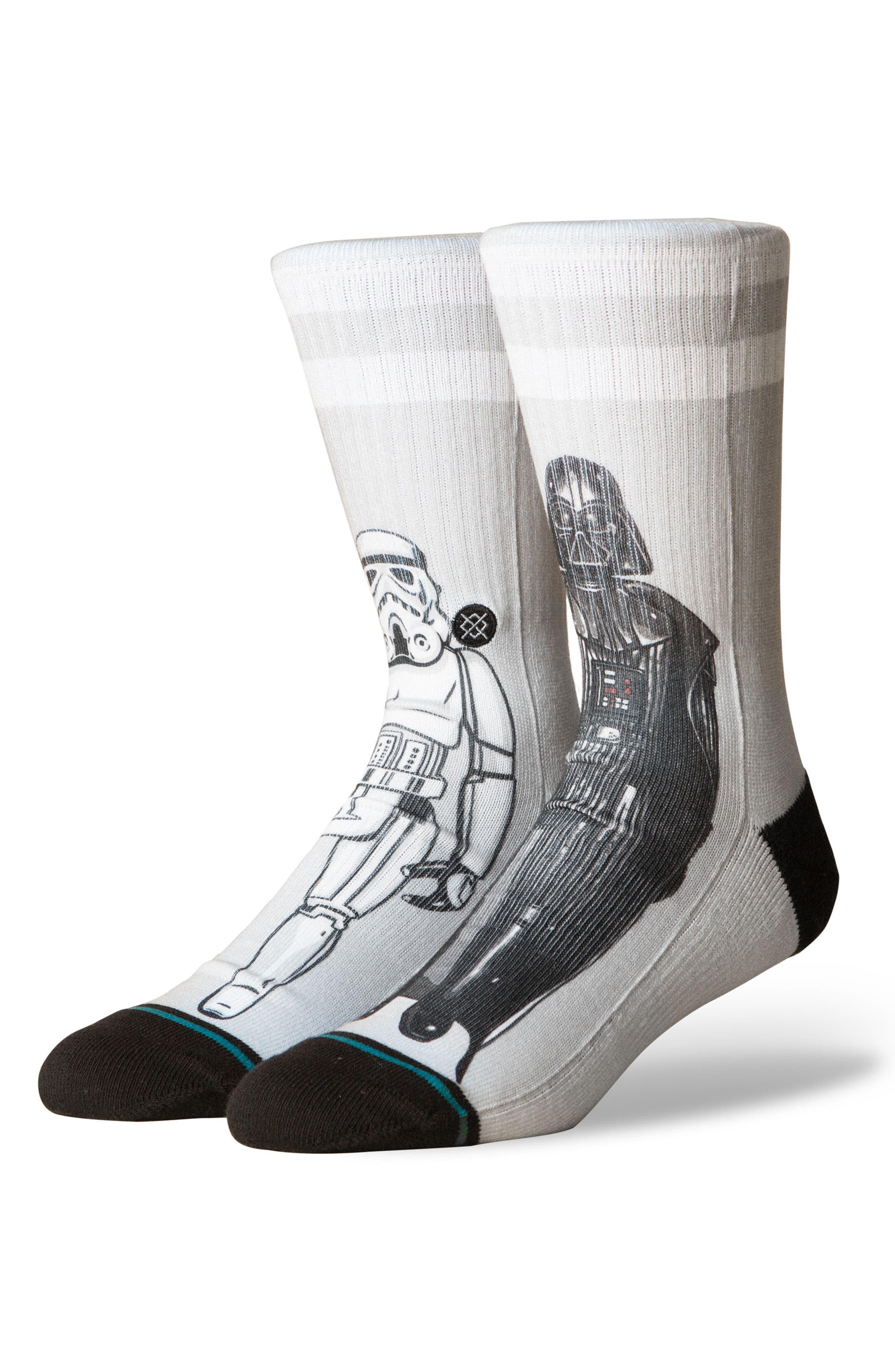 Star Wars<sup>™</sup> Master of Evil Socks,                             Main thumbnail 1, color,                             Grey