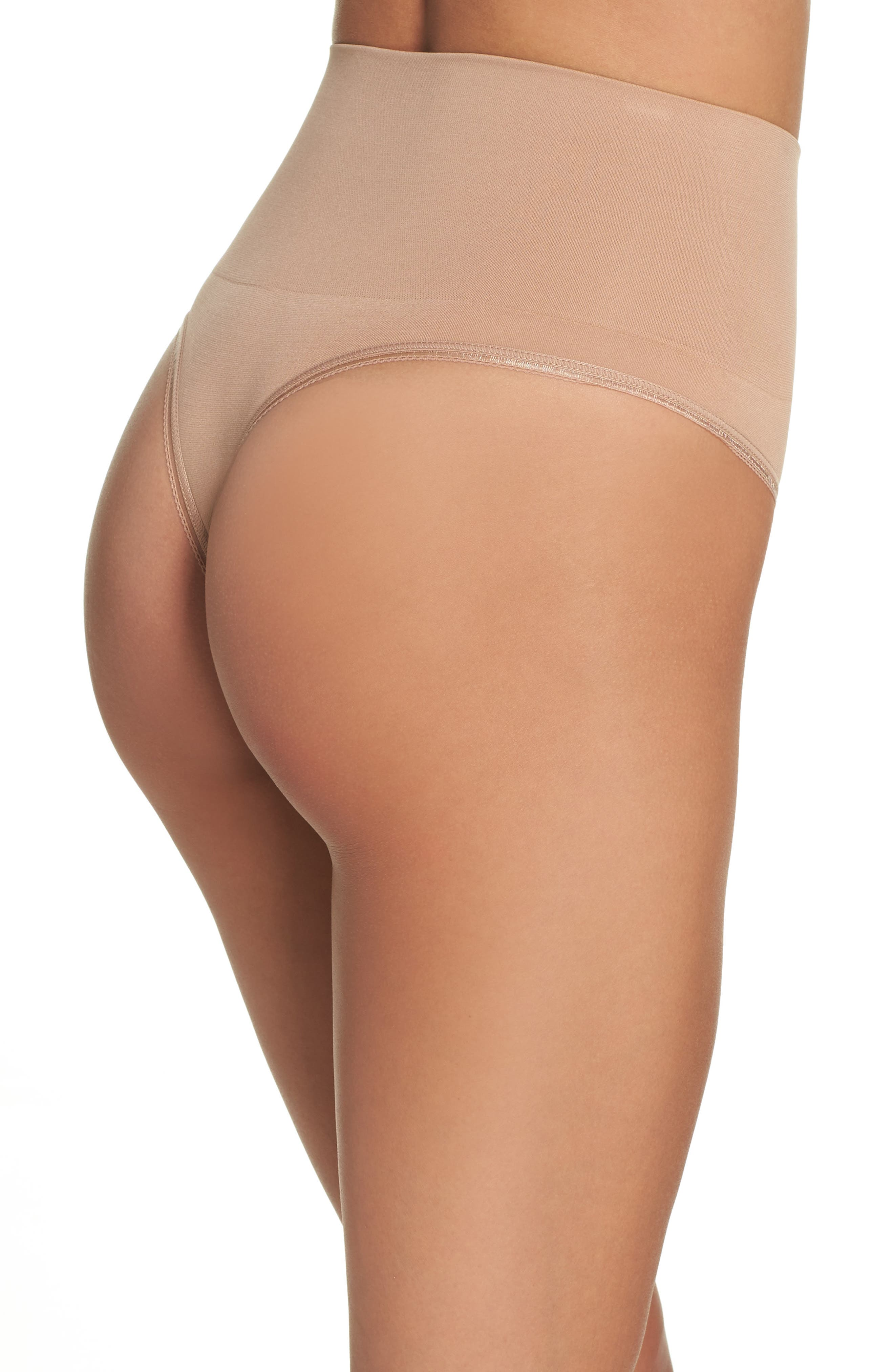Ultralight Seamless Shaping Thong,                             Alternate thumbnail 2, color,                             Almond