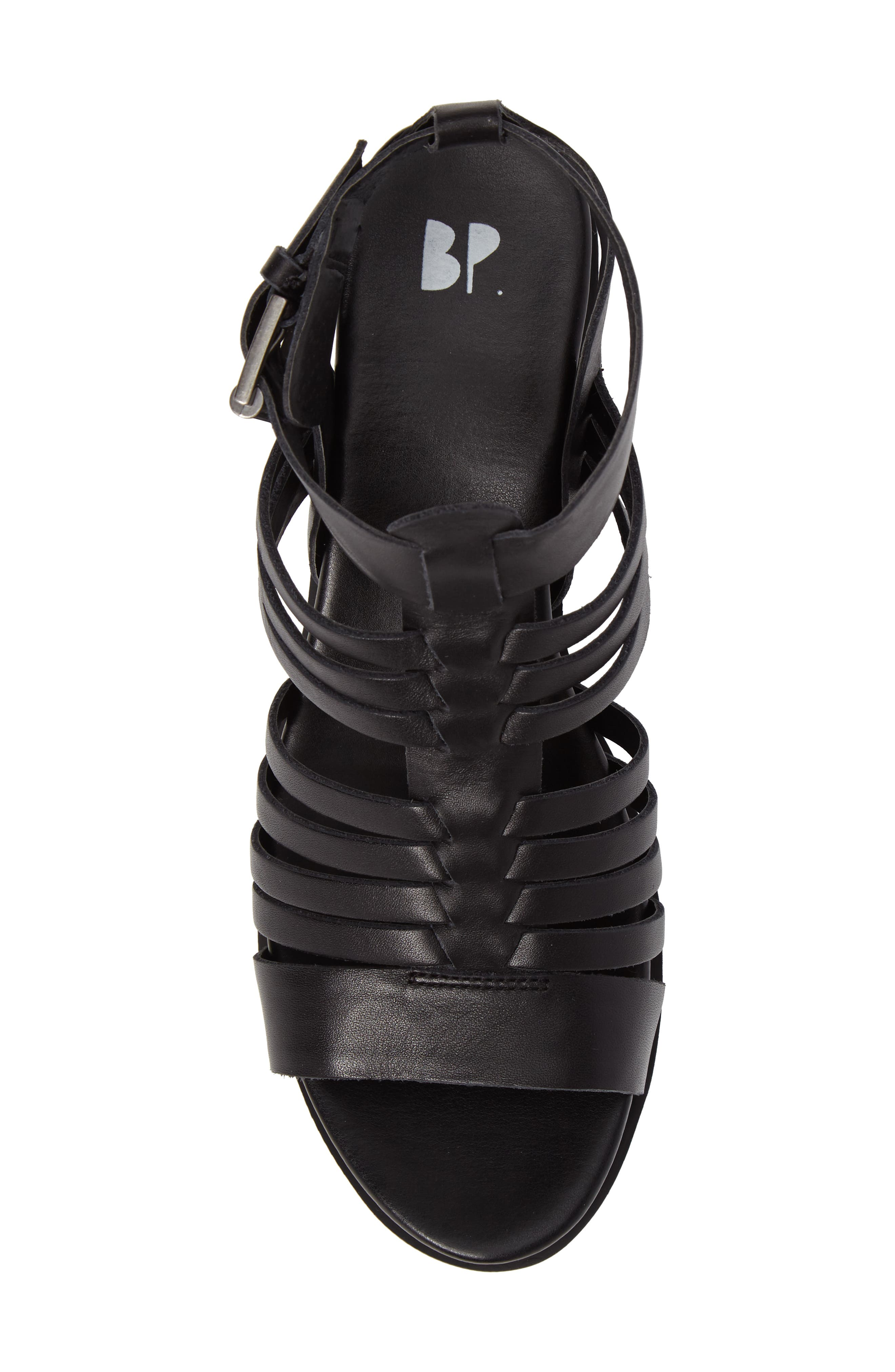 Ronnie Gladiator Platform Sandal,                             Alternate thumbnail 5, color,                             Black Leather