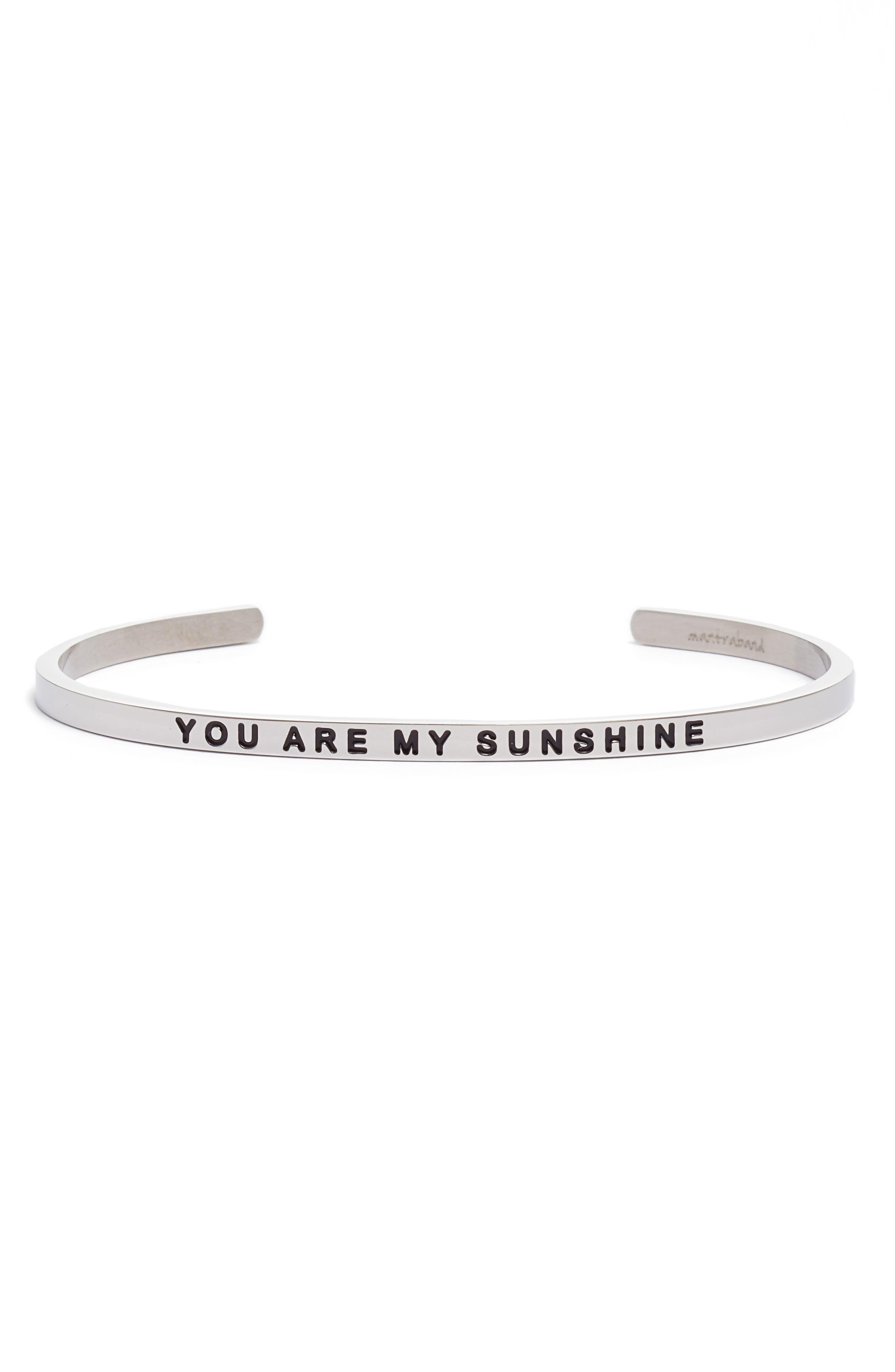 Main Image - MantraBand You Are My Sunshine Engraved Cuff